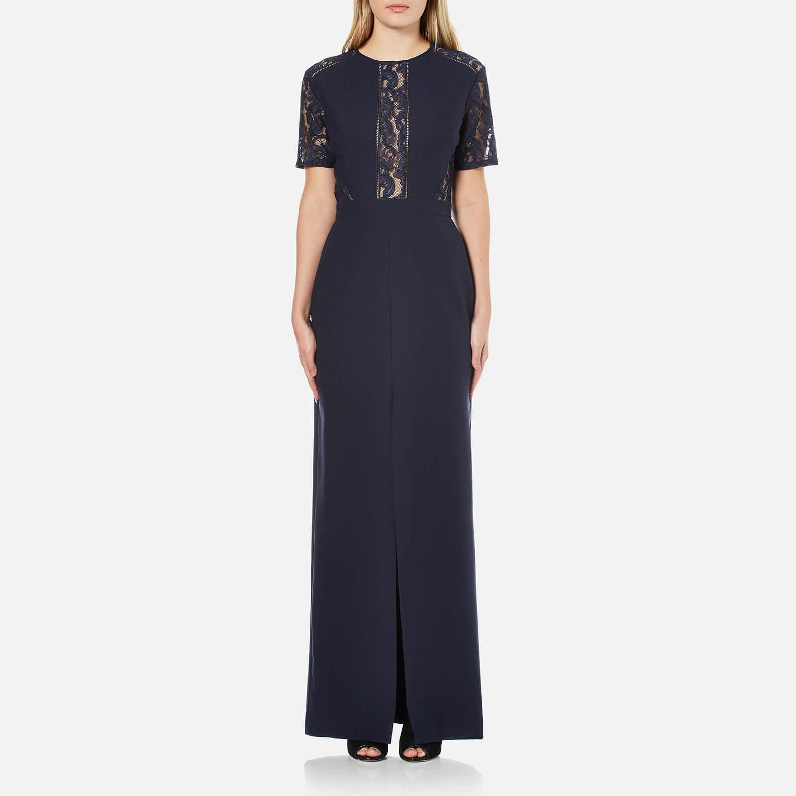 5ed1e7e2142 Perseverance Women s Short Sleeve Lace Panel Maxi Dress - Navy ...