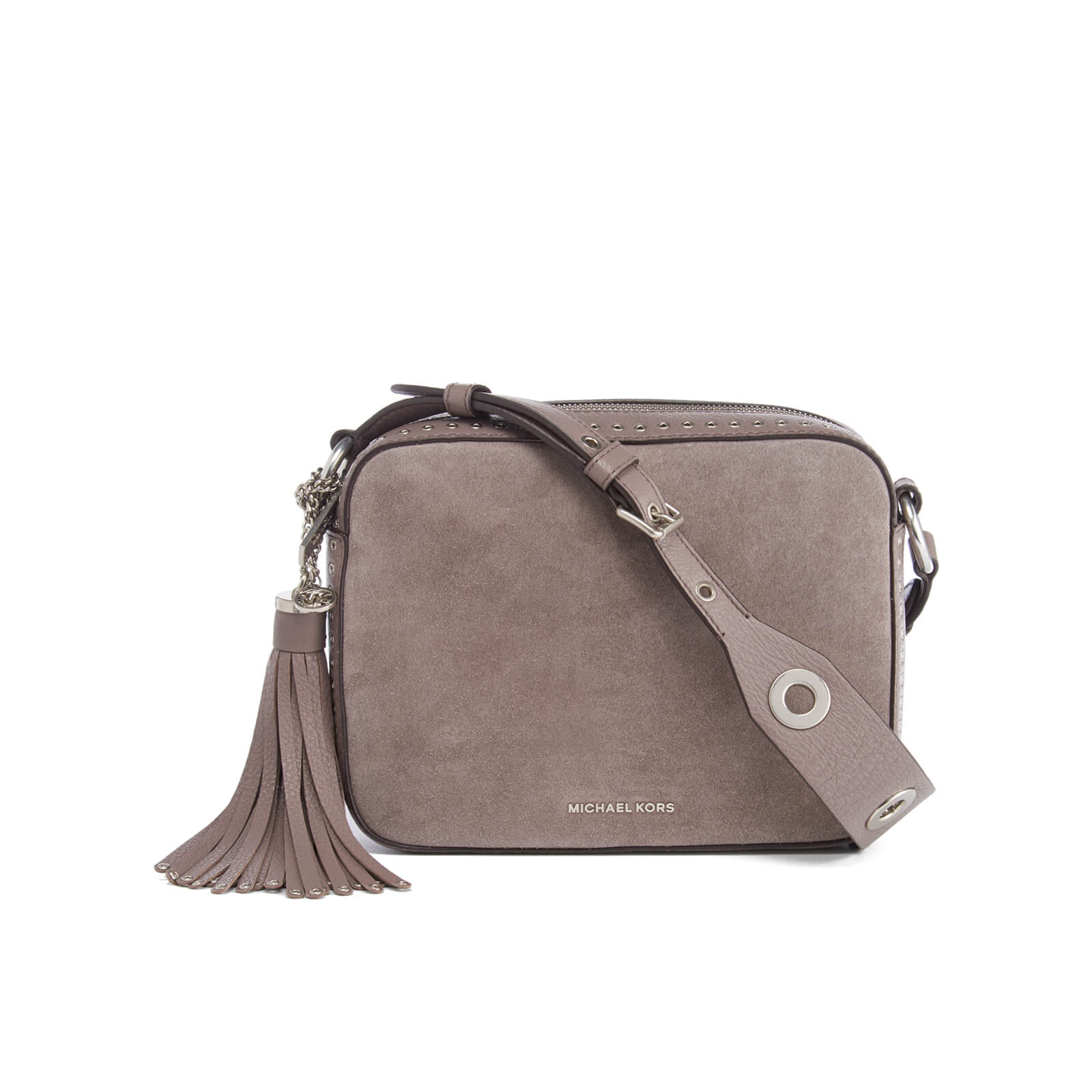 3882094c462f MICHAEL MICHAEL KORS Women's Brooklyn Large Suede Camera Bag - Cinder -  Free UK Delivery over £50