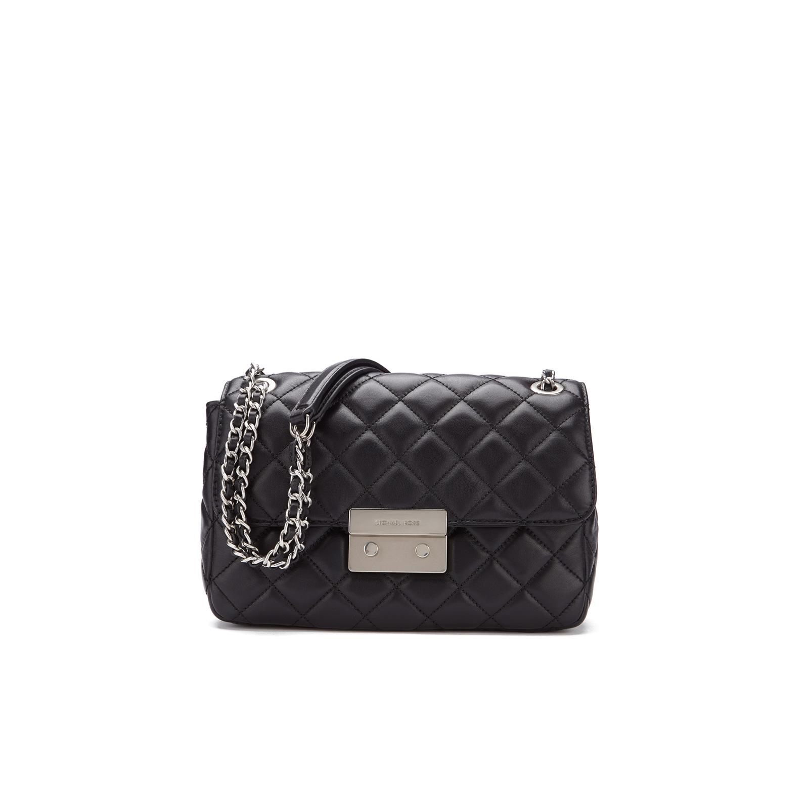 e6077fa4cf0b7 MICHAEL MICHAEL KORS Women s Sloane Large Chain Shoulder Bag - Black ...