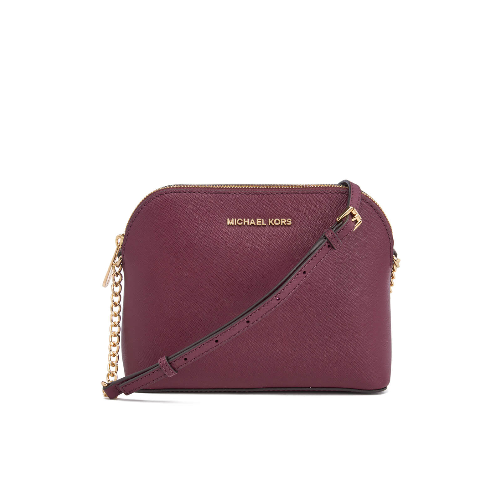 298c0a18081398 MICHAEL MICHAEL KORS Women's Cindy Large Dome Cross Body Bag - Plum - Free  UK Delivery over £50