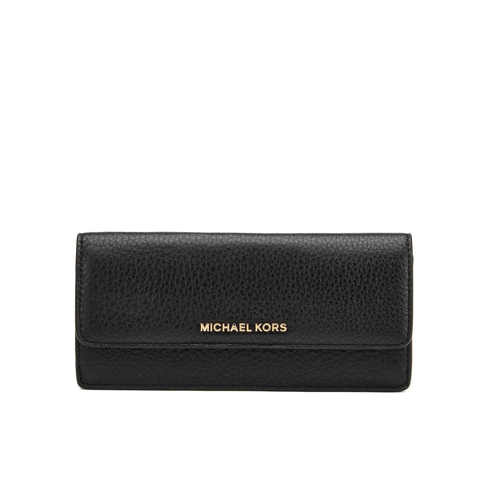 7caf2973c698 MICHAEL MICHAEL KORS Women s Bedford Large Flat Wallet - Black ...
