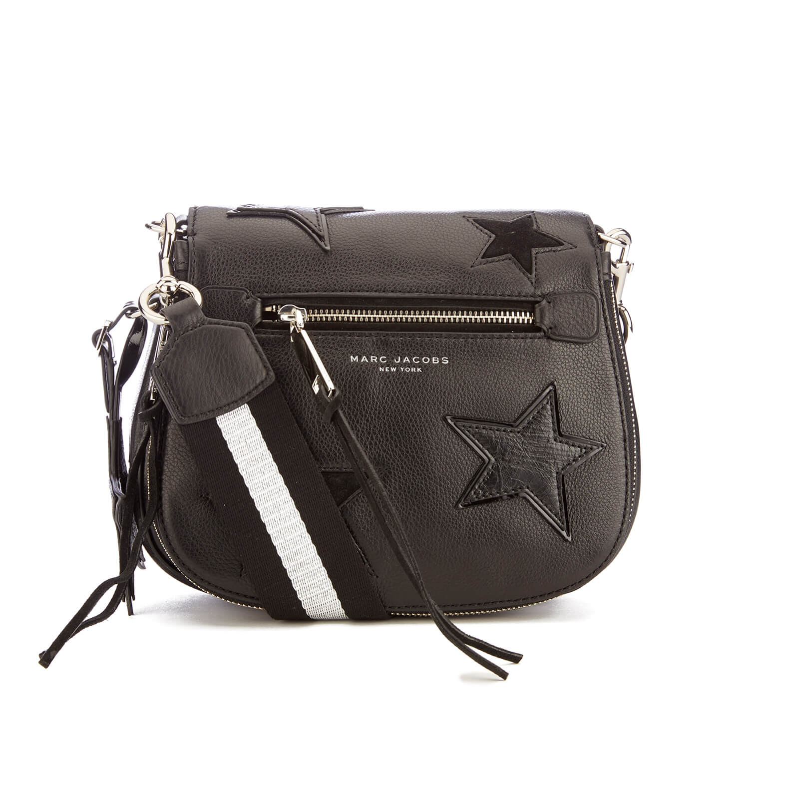 19552e3bdd95 Marc Jacobs Women s Star Patchwork Small Saddle Bag - Black Multi - Free UK  Delivery over £50