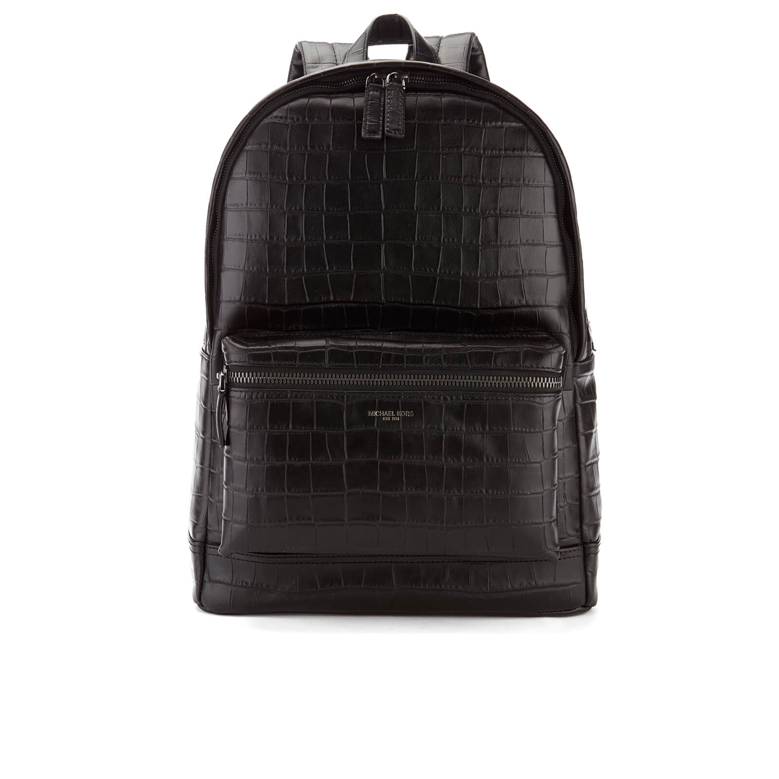 04ef0bdc57d8 Michael Kors Men s Bryant Embossed Croc Backpack - Black - Free UK ...