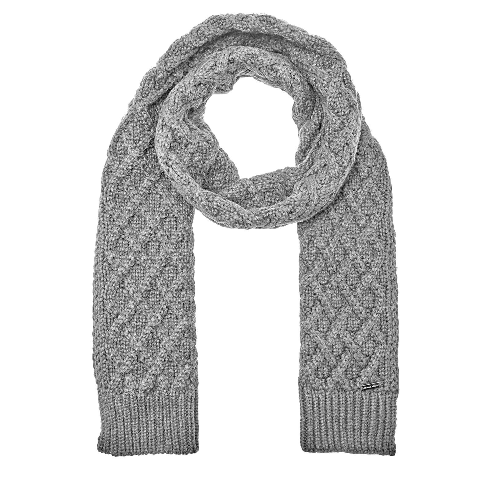 Michael Kors Men S Cable Knit Scarf Heather Grey Free Uk