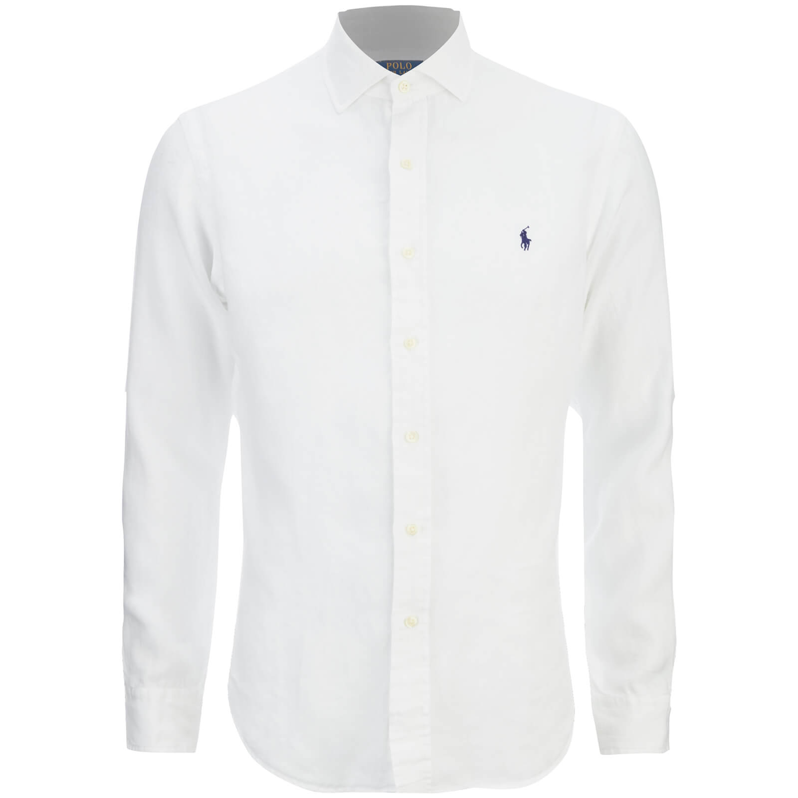 76eefdebb342e Polo Ralph Lauren Men s Slim Fit Long Sleeve Linen Shirt - White - Free UK  Delivery over £50