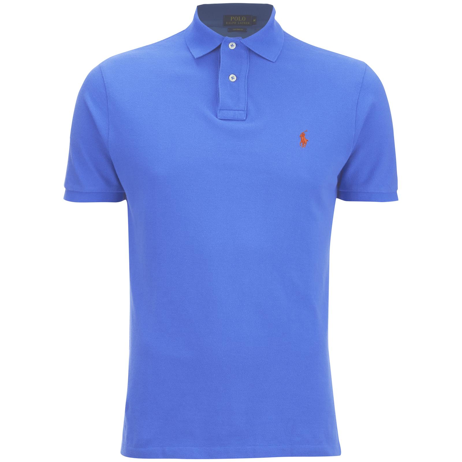 Men's Shirt Ralph Polo Fit Lauren Cyan Custom Blue wNv0Onm8