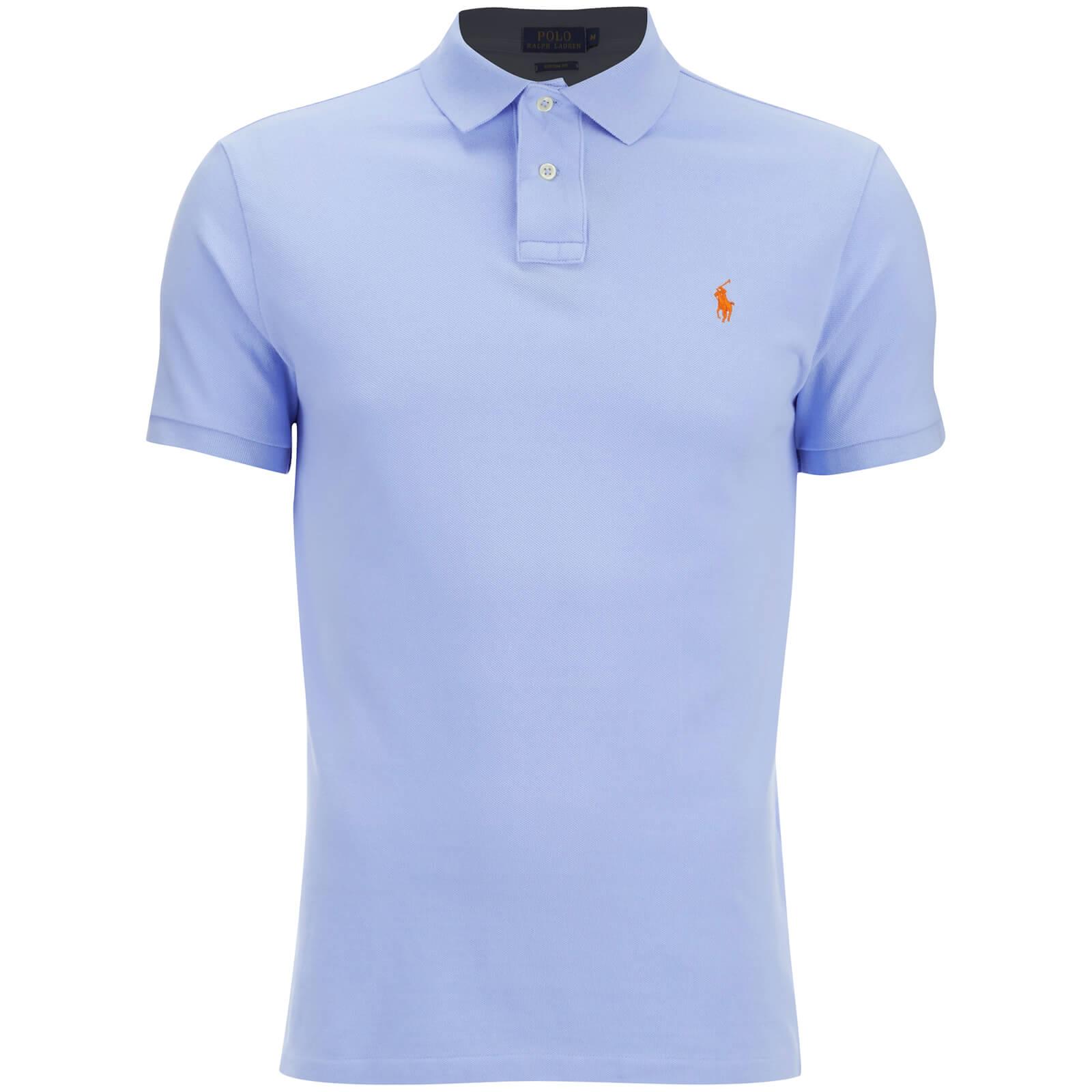 Fit Ralph Shirt Polo Blue Pebble Men's Custom Lauren rthCBdsQx