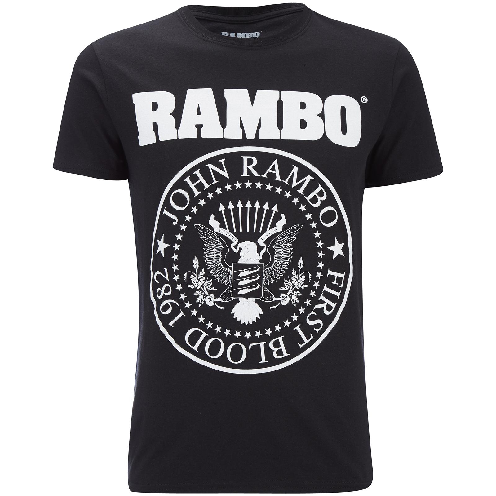 Rambo men 39 s seal t shirt black merchandise zavvi for T shirt printing franchise