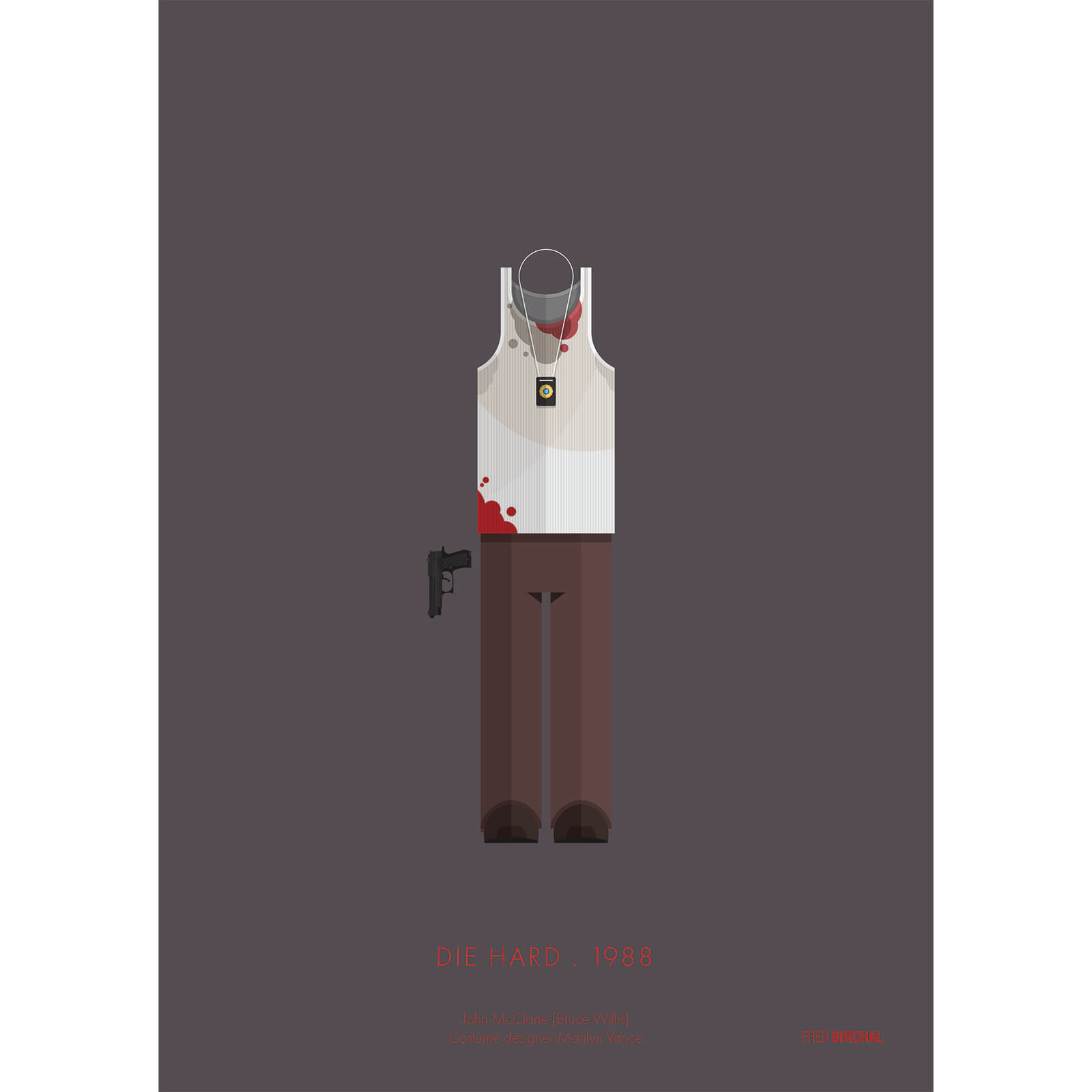 Die Hard Costume Art Print - 14 x 11