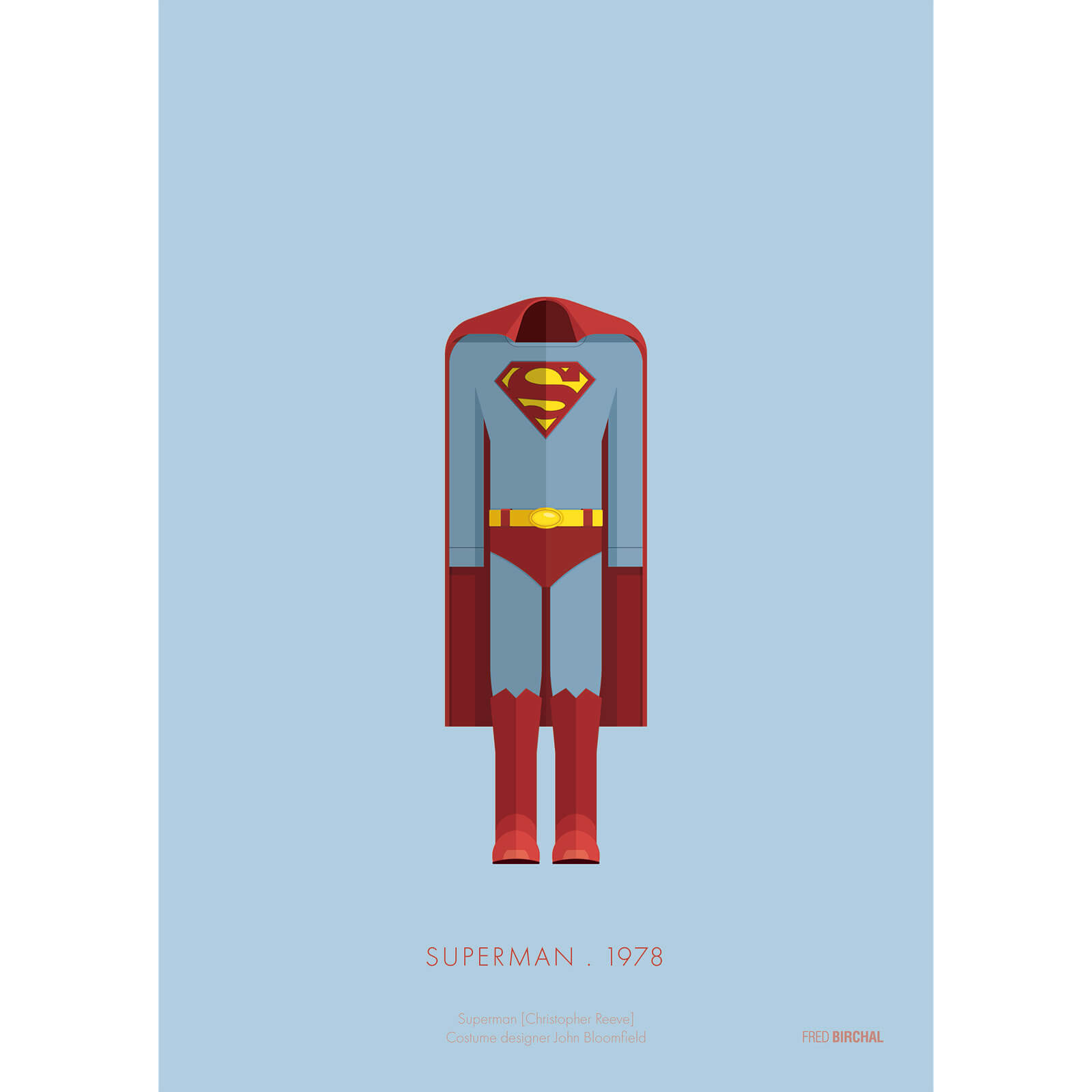 Superman Costume Art Print - 14 x 11
