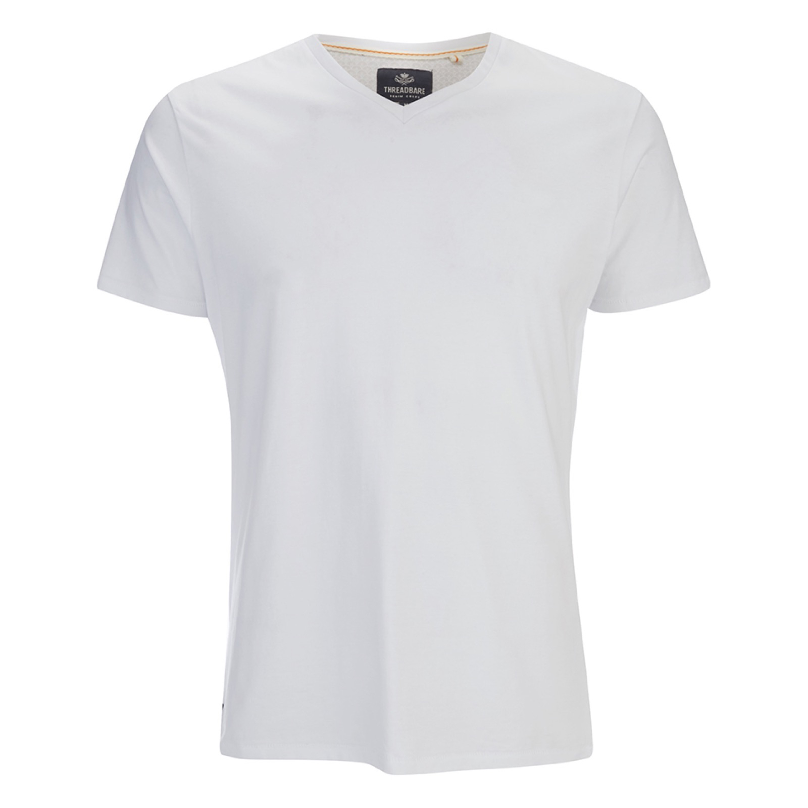 c66d841f80b5 Threadbare Men's Charlie Plain V-Neck T-Shirt - White Clothing | Zavvi