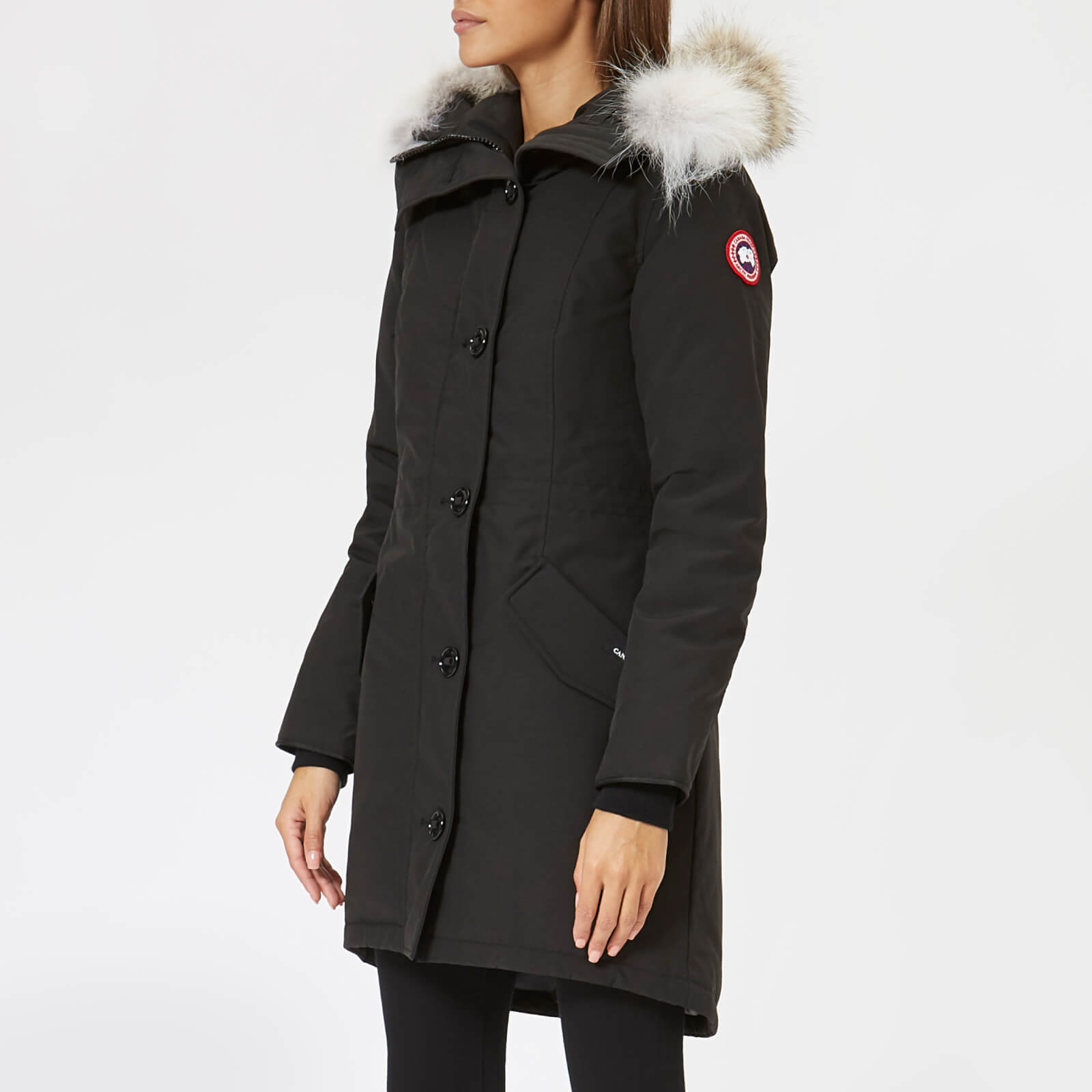 ae4ef6f934c Canada Goose Women's Rossclair Parka - Black - Free UK Delivery over £50