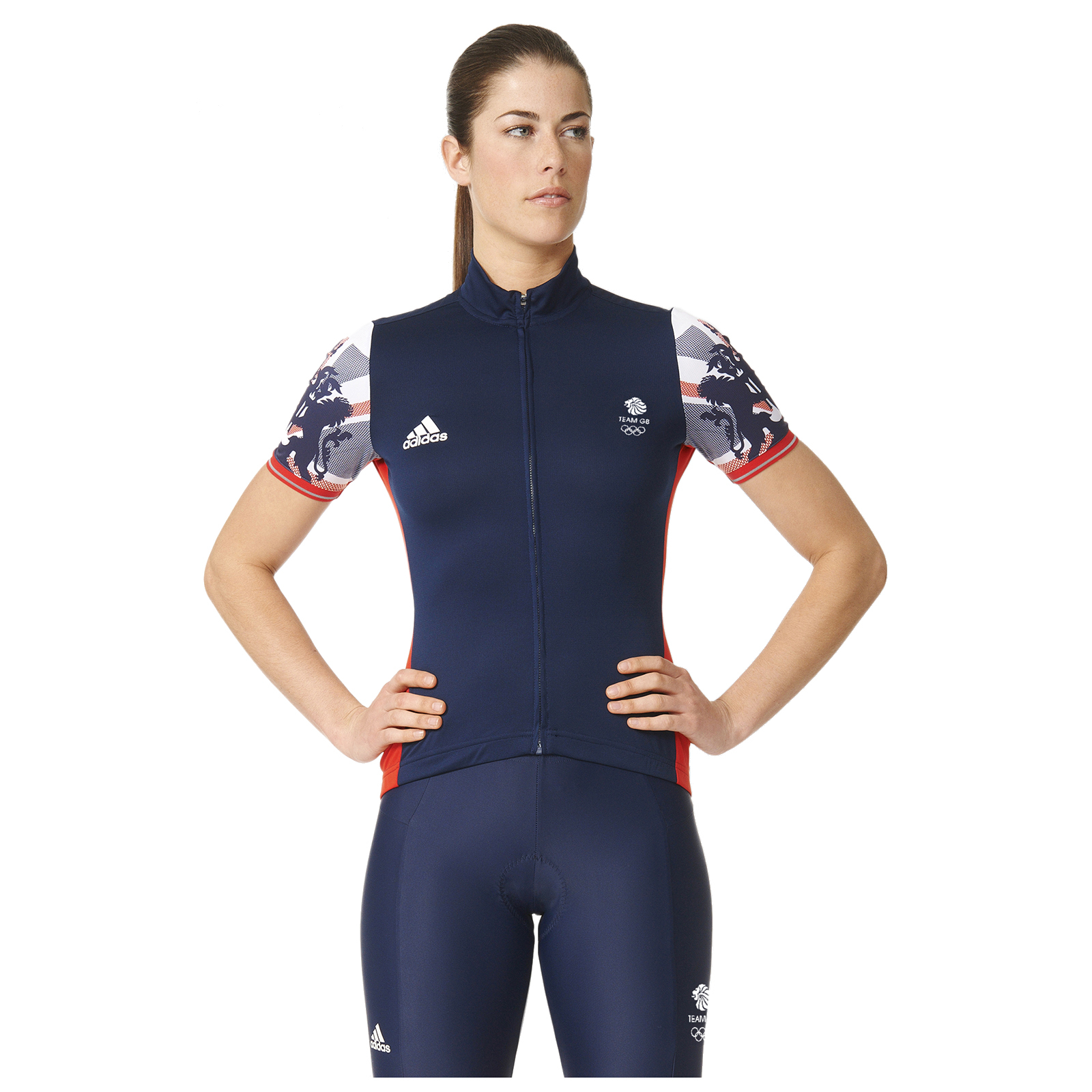 ee5a2667369 adidas Women's Team GB Replica Training Cycling Short Sleeve Jersey - Blue  | ProBikeKit.com
