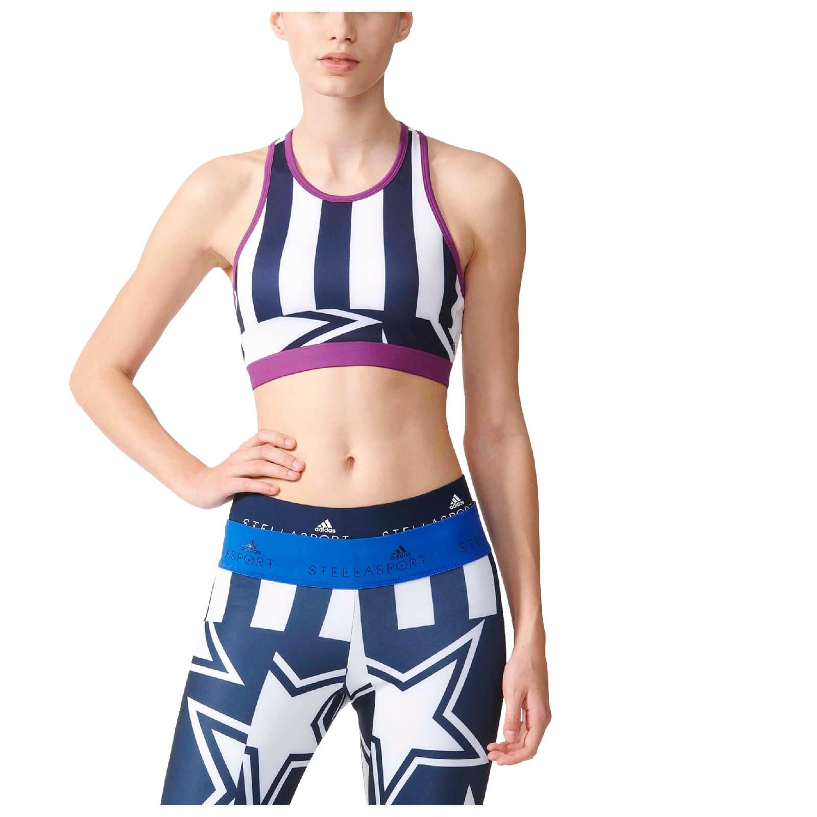 adidas Women s Stella Sport Crop Training Bra - Night Indigo ... d141645b07