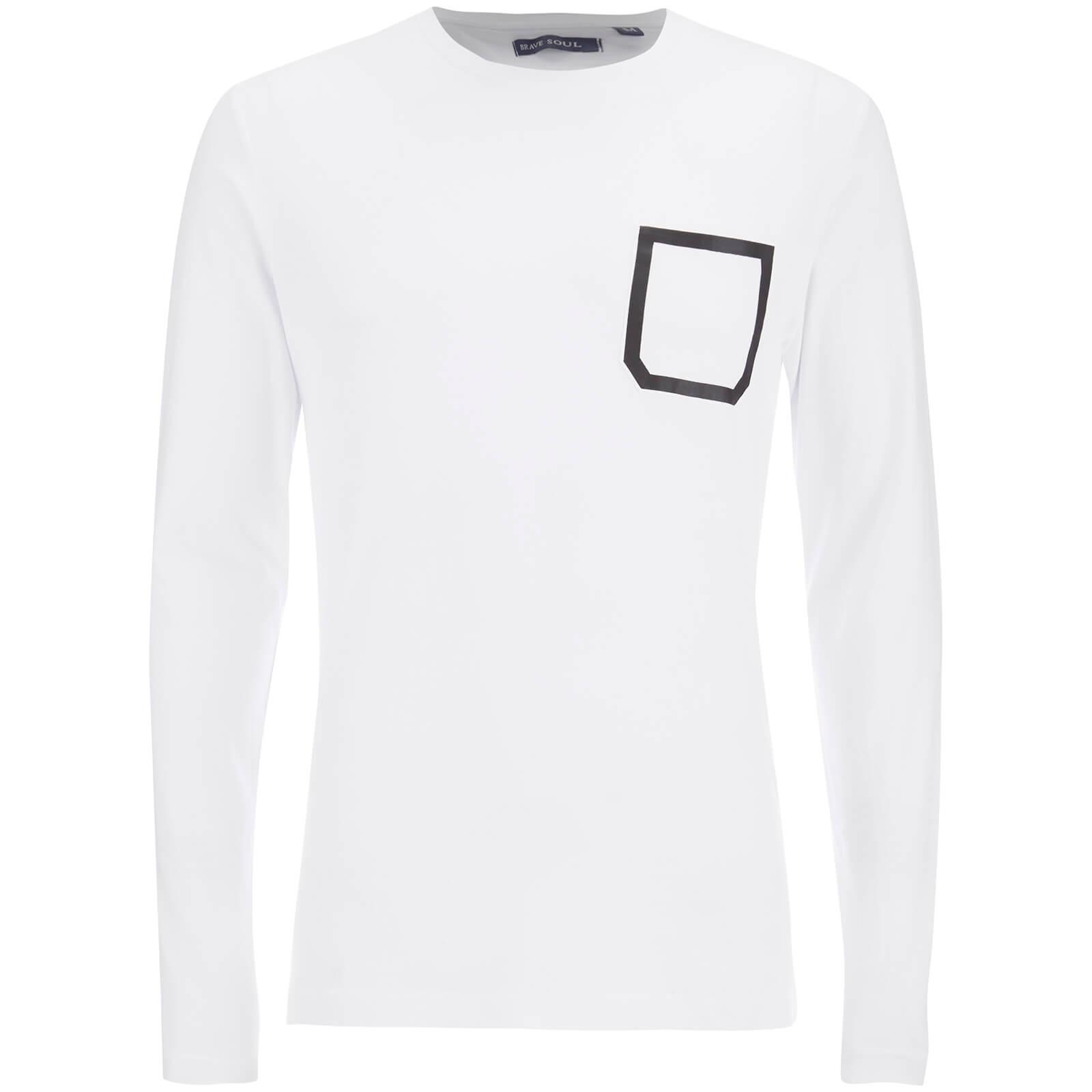 b67c2a1eb62e Description. Men's long sleeve T-shirt from Brave Soul. Cut from pure cotton,  the 'Activist' top features a simple crew neck ...