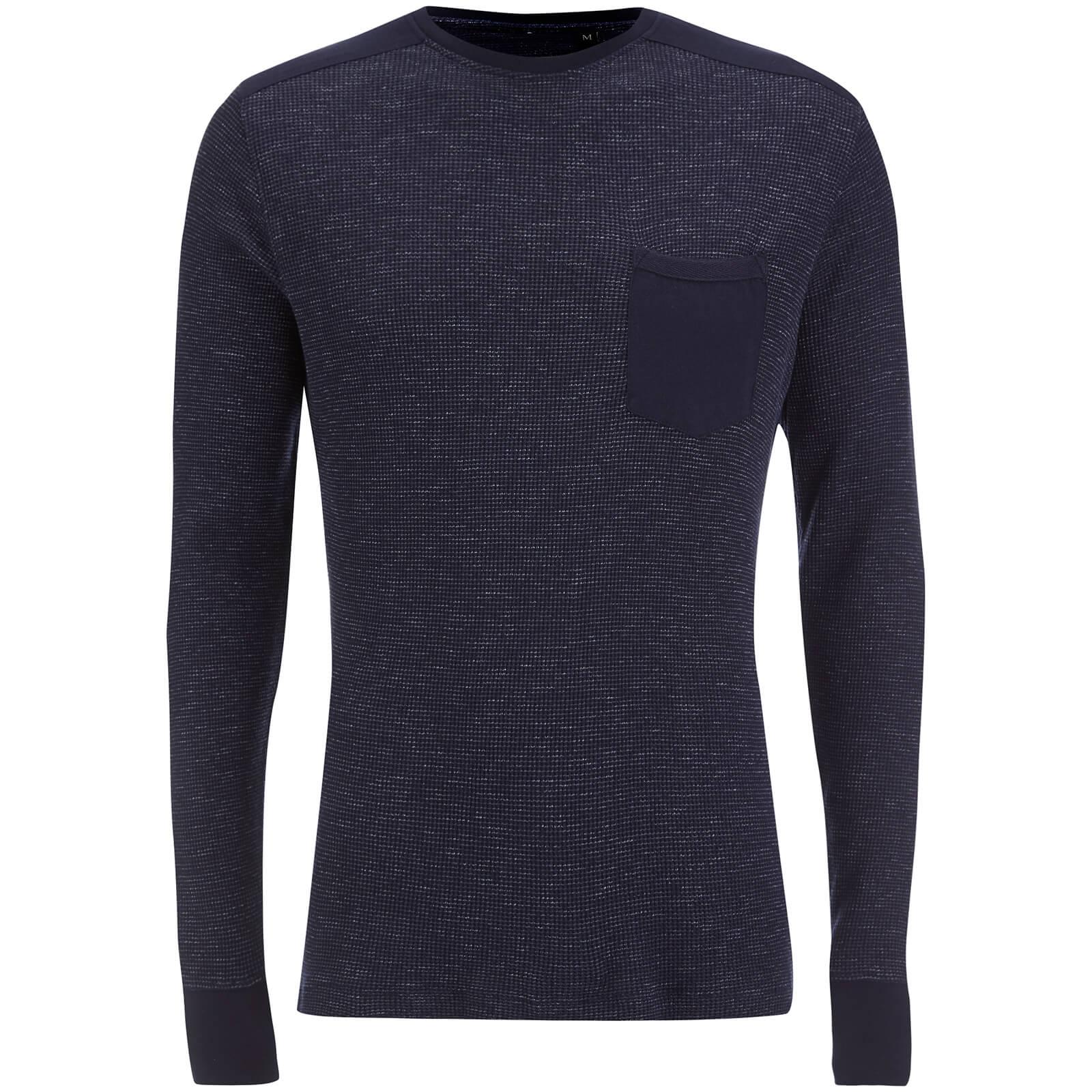 33c617238425 Brave Soul Men's Ween Interest Patch and Pocket Sweatshirt - Navy | IWOOT