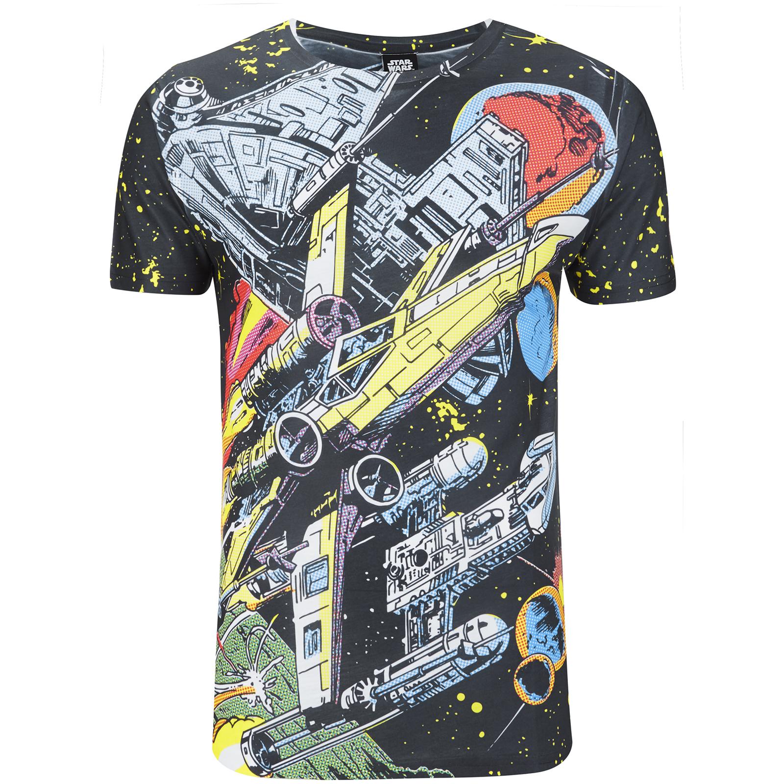 Camiseta Star Wars Batalla Cómic - Hombre - Negro Merchandise ... 603adf413eb7d