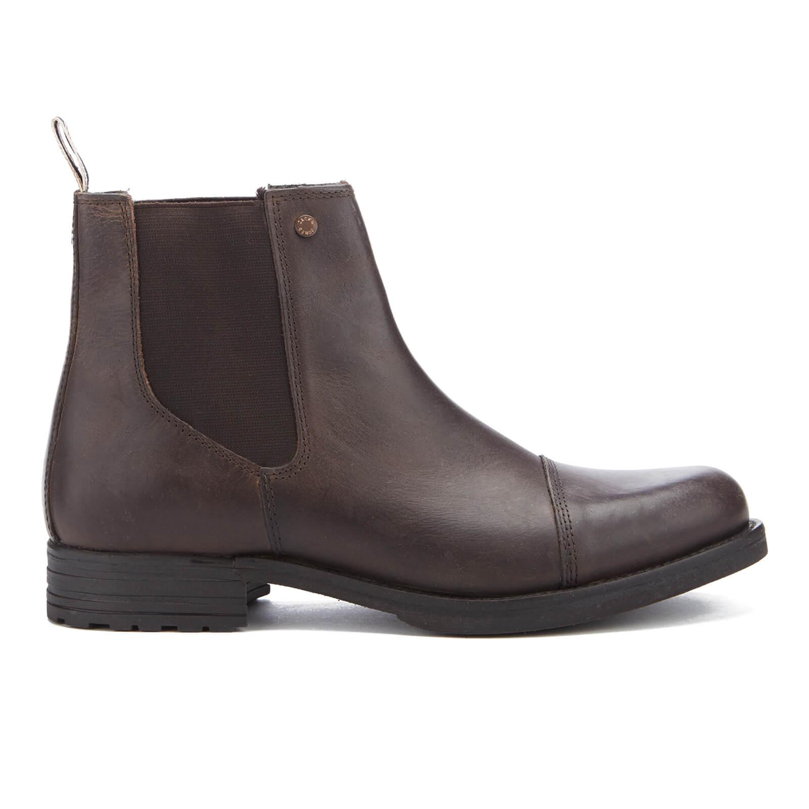 95a80da3d11 Botines Jack   Jones Simon Leather Chelsea - Hombre - Marrón. Descripción