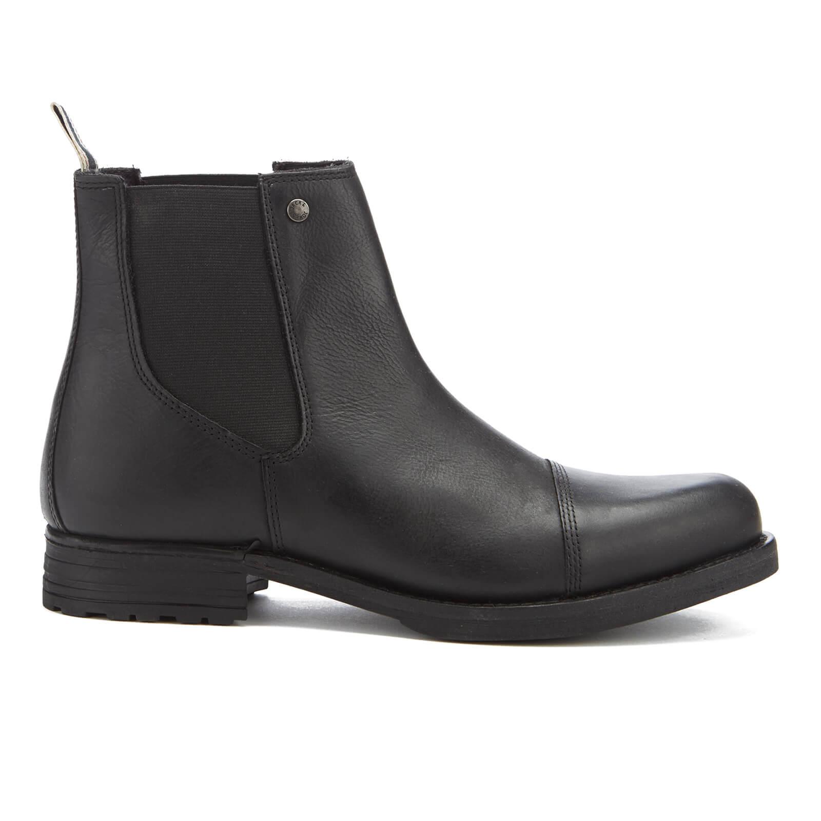 365ccd3a260 Bottines Simon Chelsea Homme Jack   Jones -Anthracite Mens Footwear ...