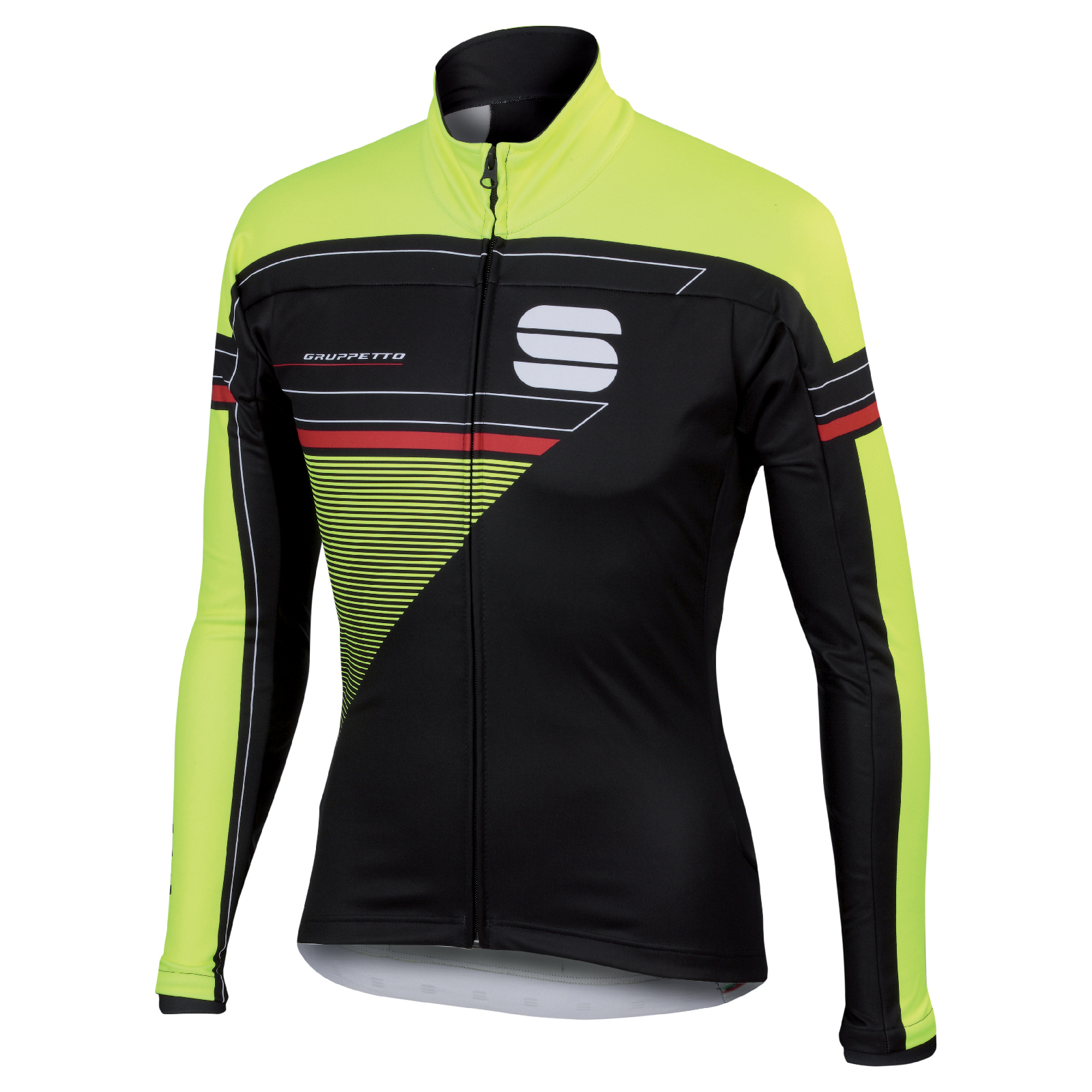 Sportful Gruppetto Partial Windstopper Jacket - Black/Yellow