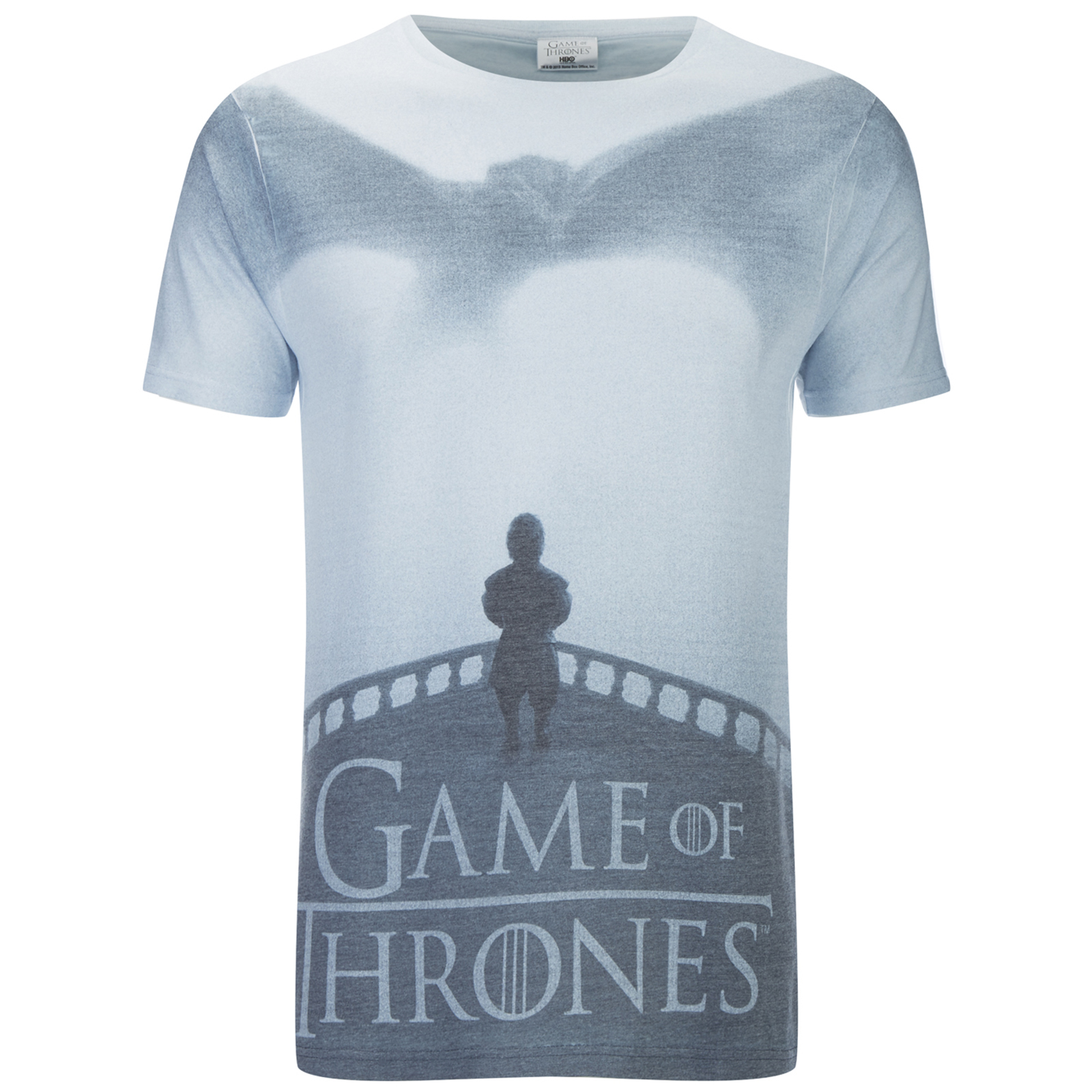 T-Shirt Homme Game of Thrones Dragon Tyrion - Blanc