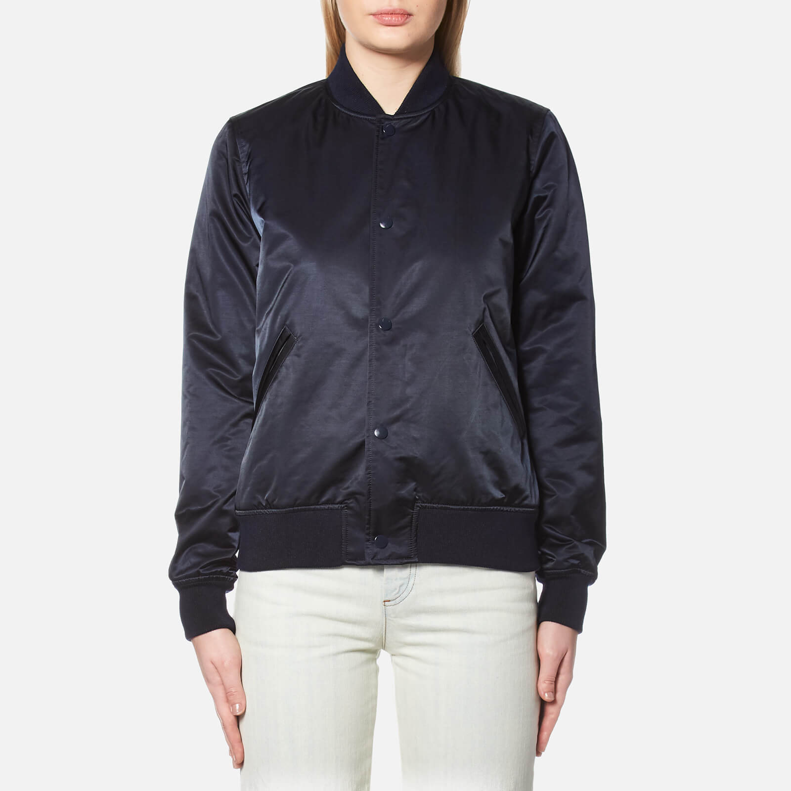 new products for online shop dependable performance A.P.C. Women's Avengers Bomber Jacket - Dark Navy