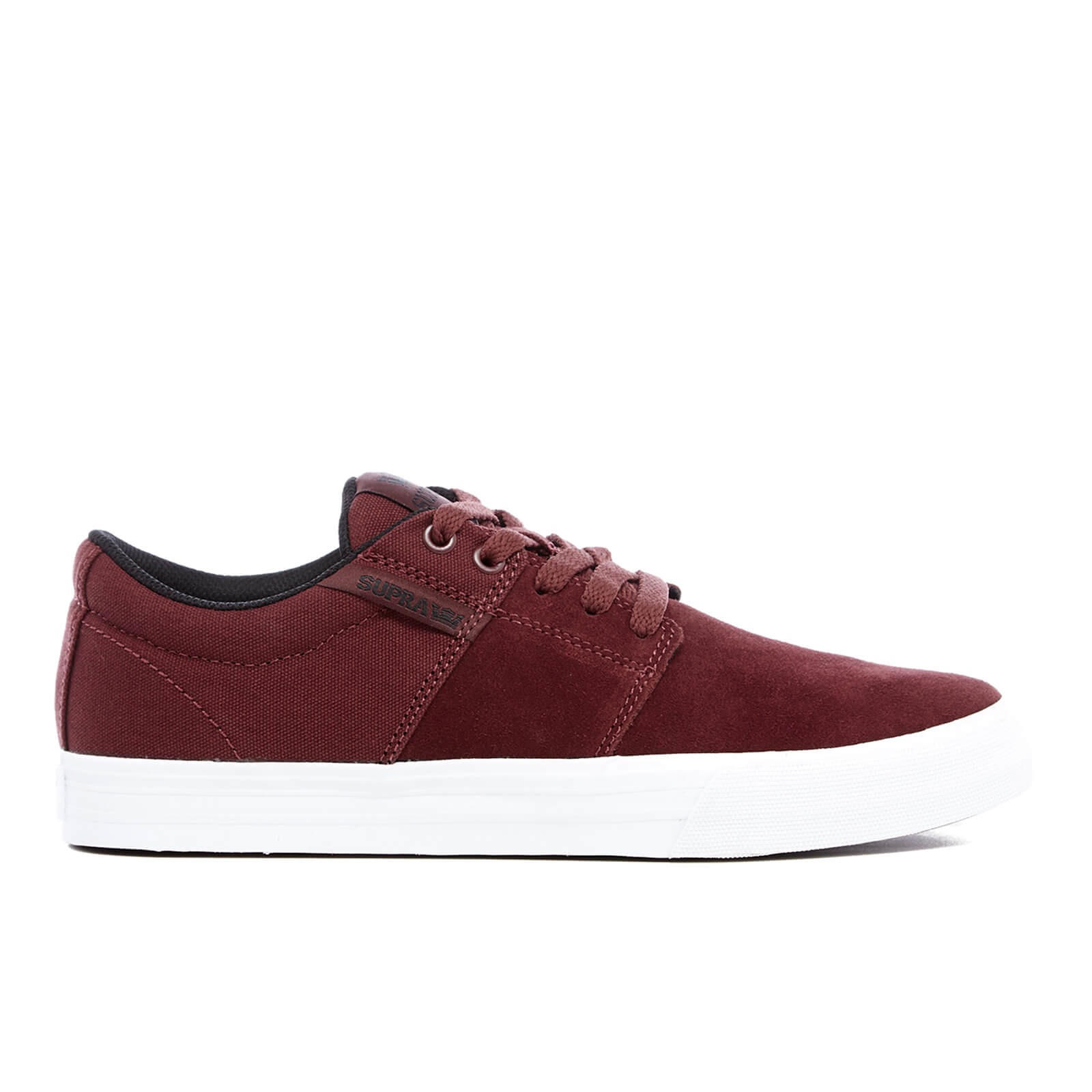 560d4412ea32 Supra Men s Stacks II Vulc Trainers - Burgundy White Mens Footwear ...