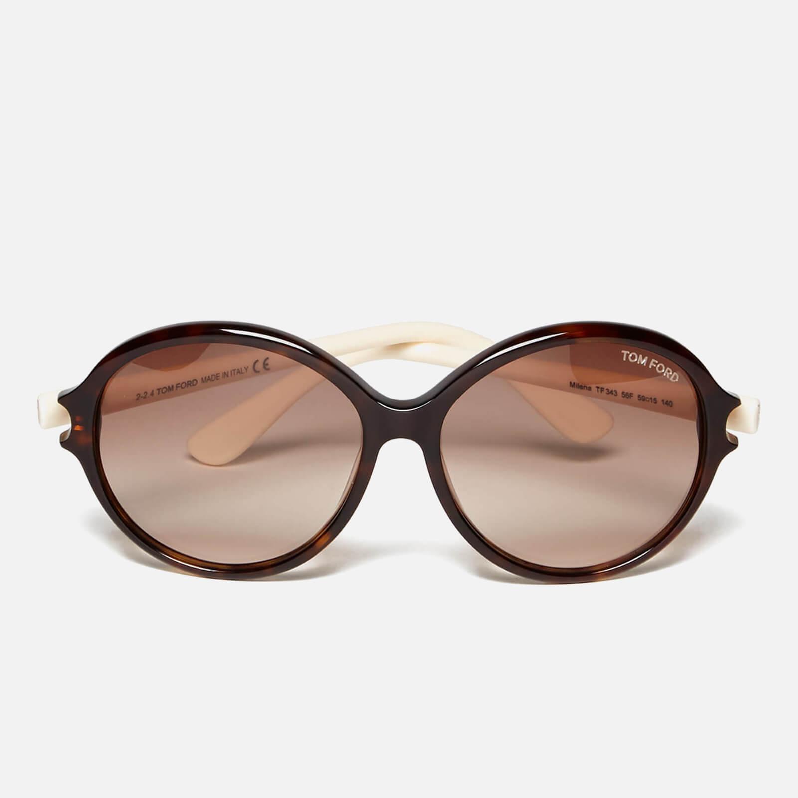 763ec1e33b75 Tom Ford Women s Milena Sunglasses - Black White - Free UK Delivery over £50