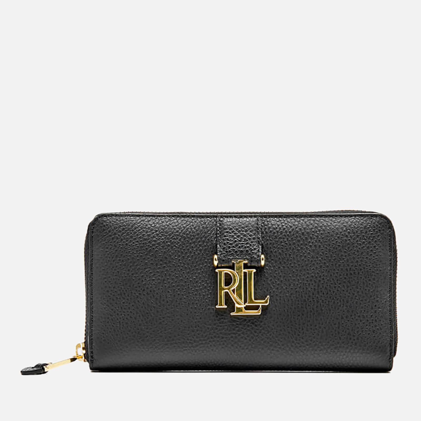 Entdecken elegante Schuhe beste Seite Lauren Ralph Lauren Women's Carrington Zip Wallet - Black