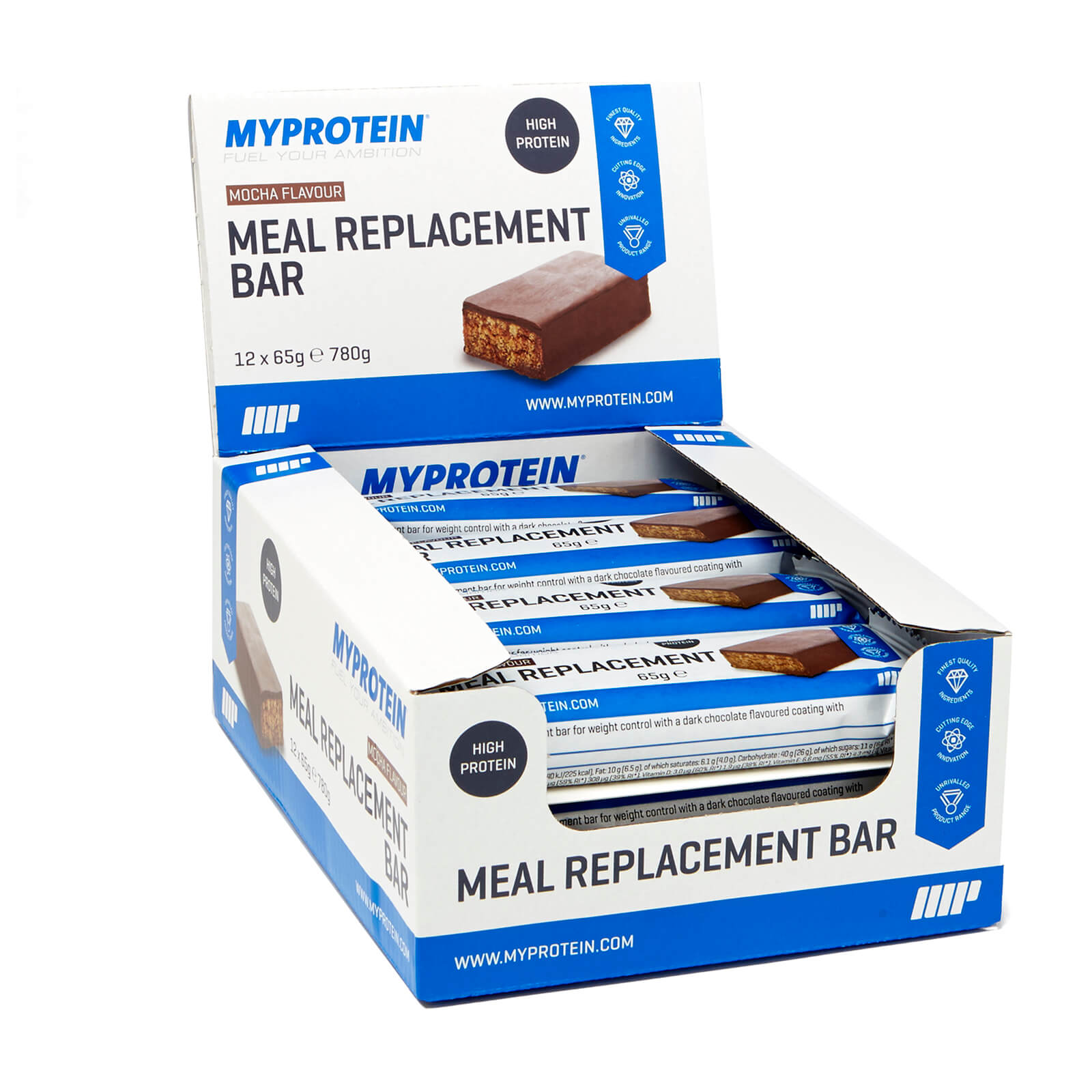 Meal Replacement Bar, Mocha, 12 x 65g