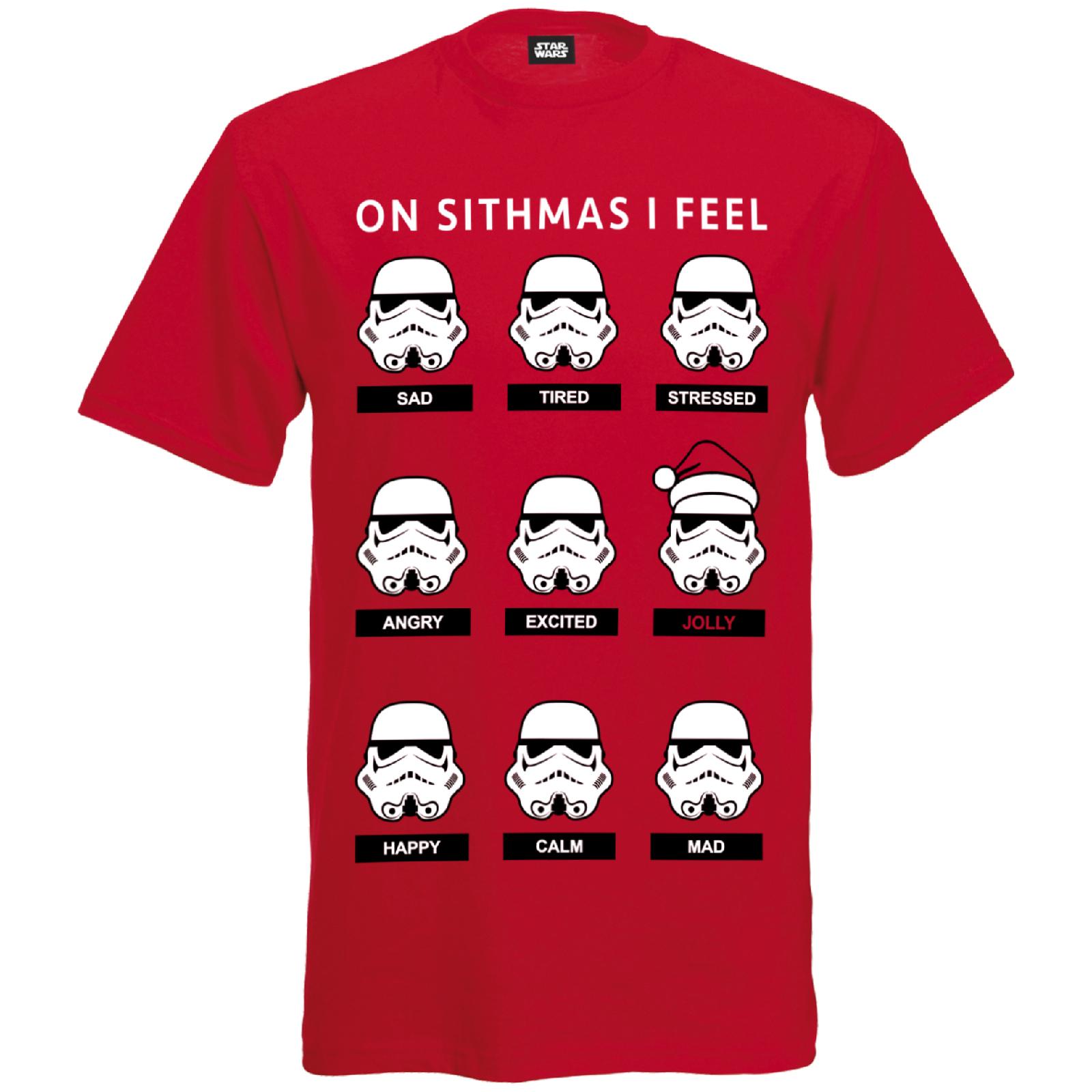 Star Wars Men's Stormtrooper Emotions Christmas T-Shirt ...