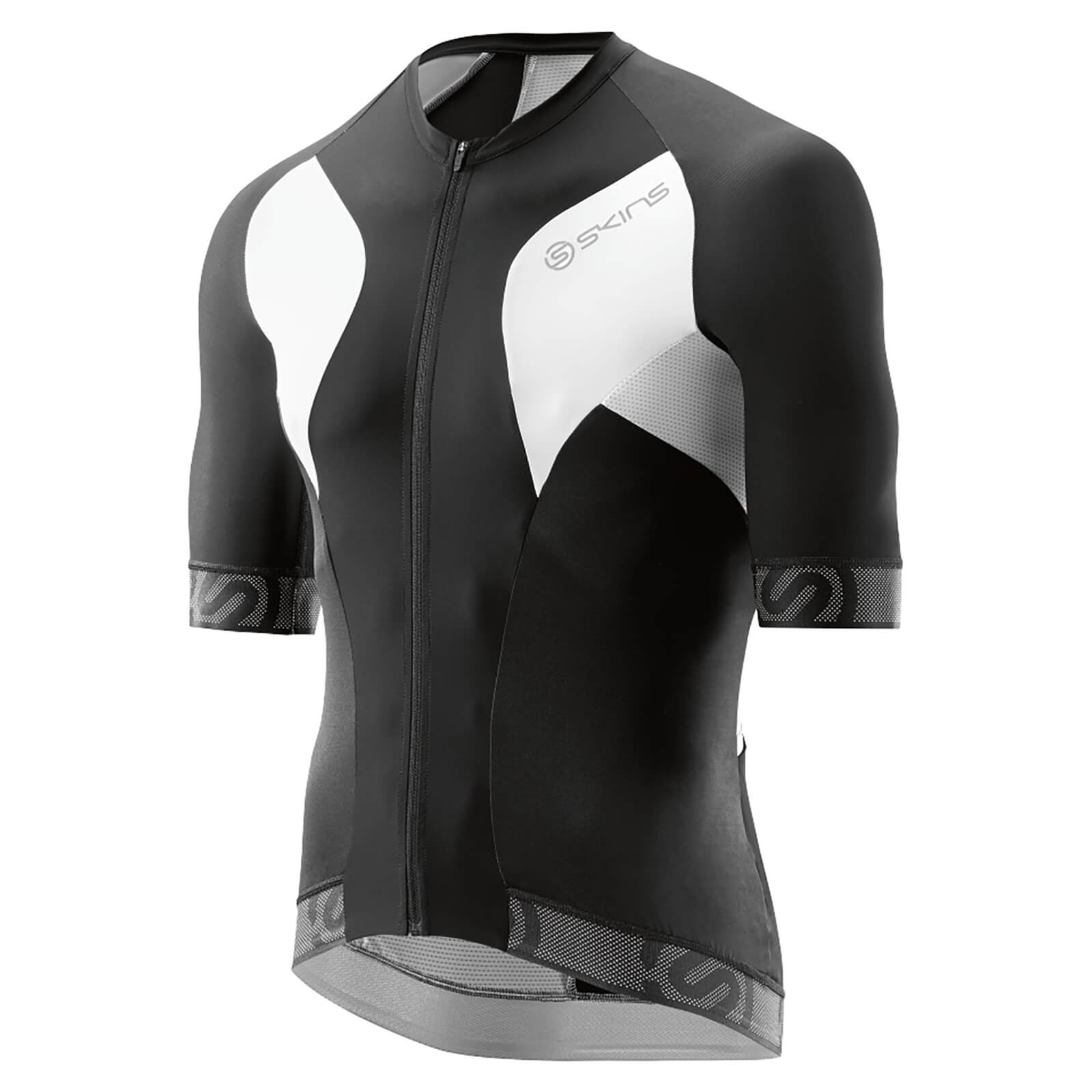 Skins Cycle Men s Tremola Due Short Sleeve Jersey - Black White ... 26239087a