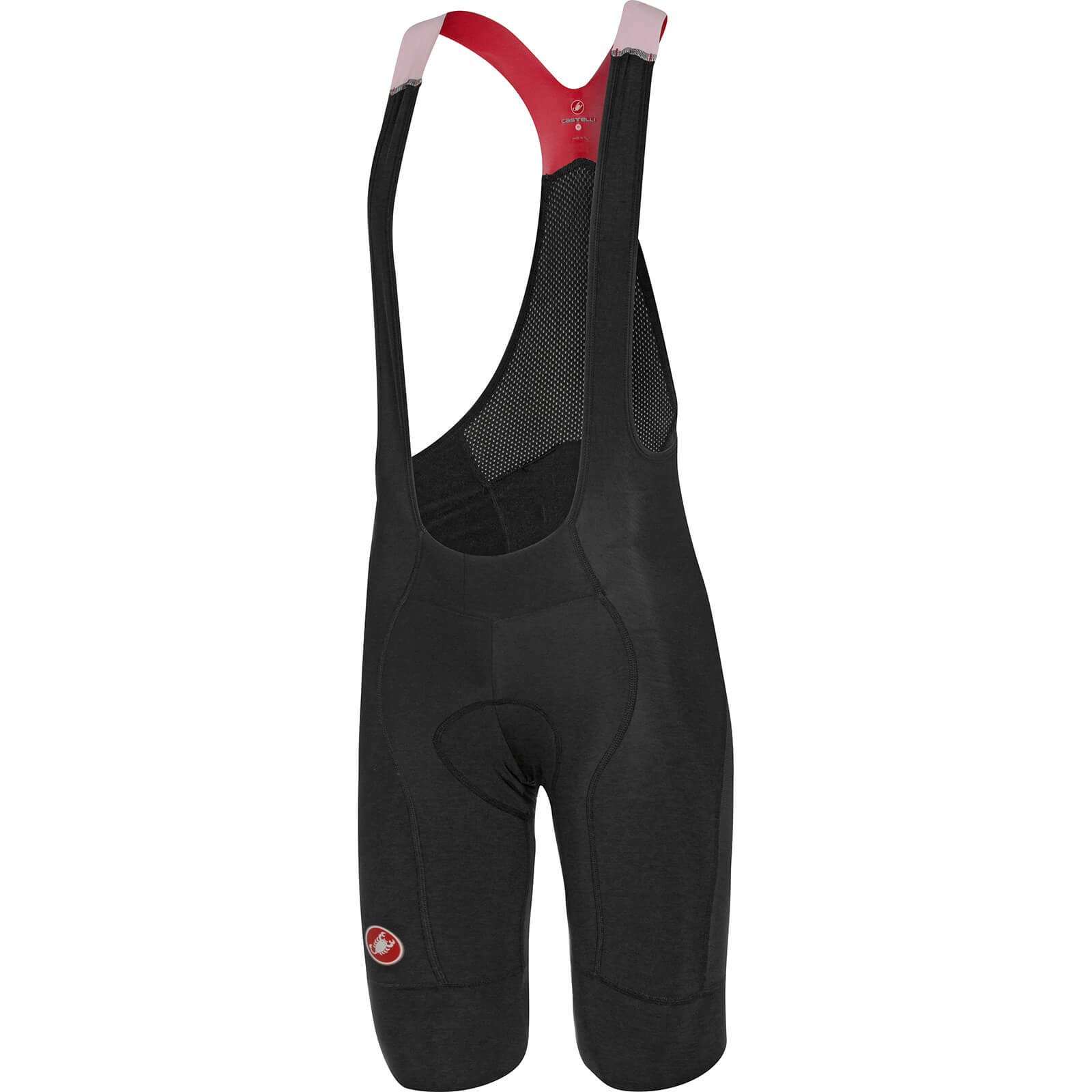 Castelli Omloop Thermal Bib Shorts - Black/Yellow