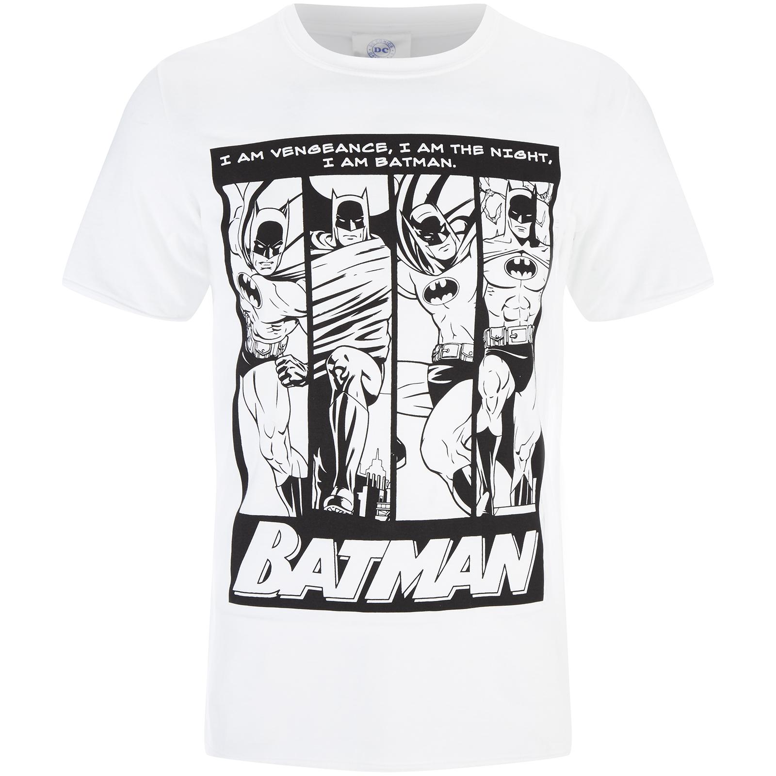 991191df2f DC Comics Men s Batman I am Batman T-Shirt - White Merchandise ...
