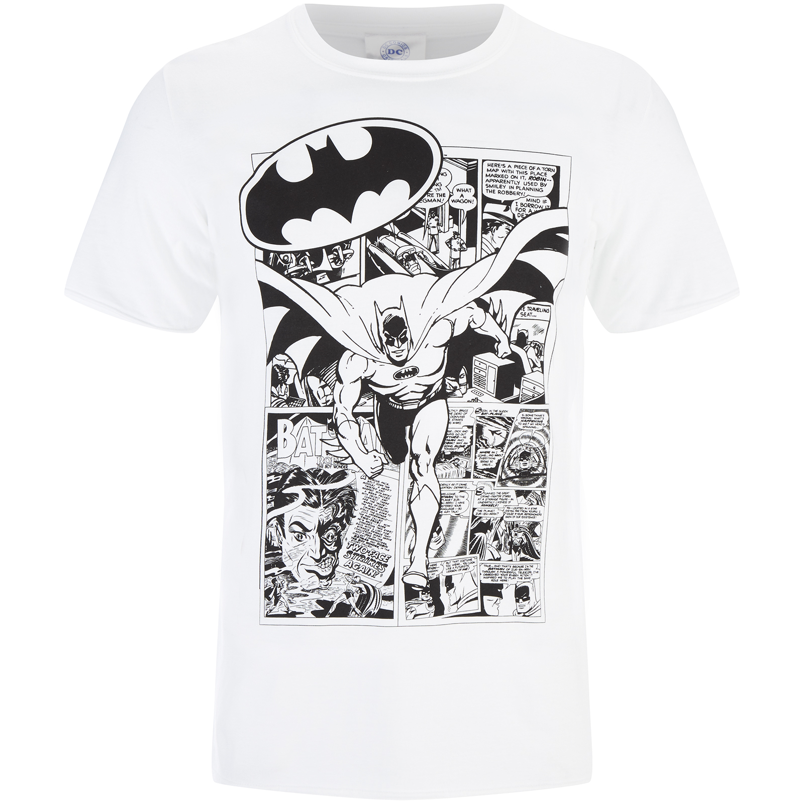 T-Shirt Homme DC Comics Batman Comic Strip - Blanc