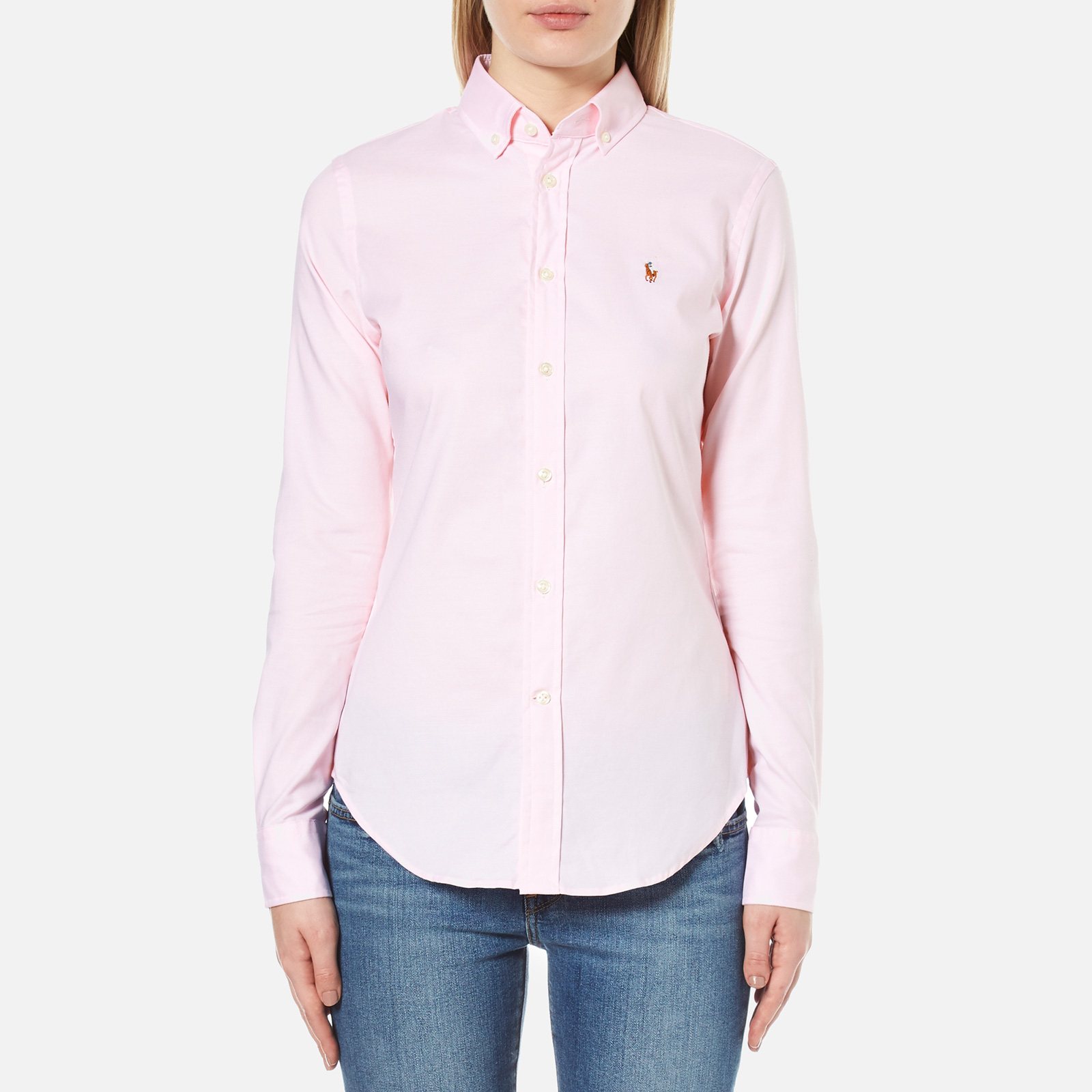 53d020478 Polo Ralph Lauren Women s Kendal Oxford Shirt - Light Rose - Free UK  Delivery over £50