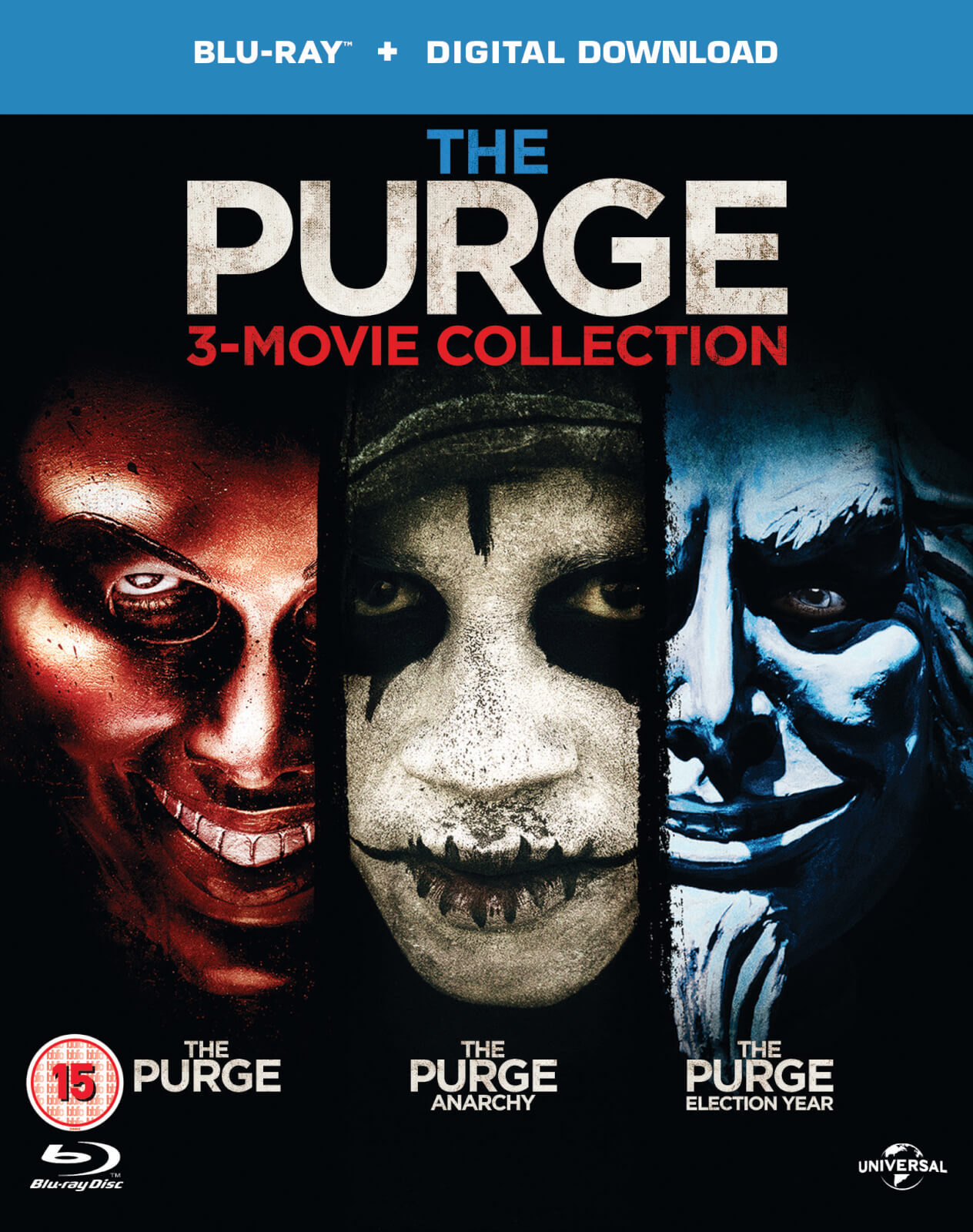 The Purge/The Purge: Anarchy/The Purge: Election Year (Includes Ultraviolet Copy)
