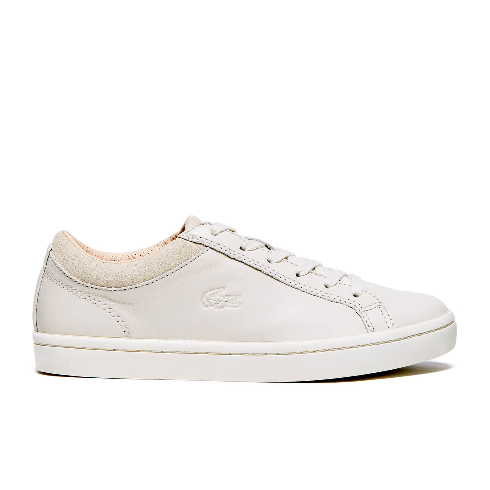 6a487cf68b53 Lacoste Women s Straightset W1 Srw Trainers - Off White - Free UK Delivery  over £50