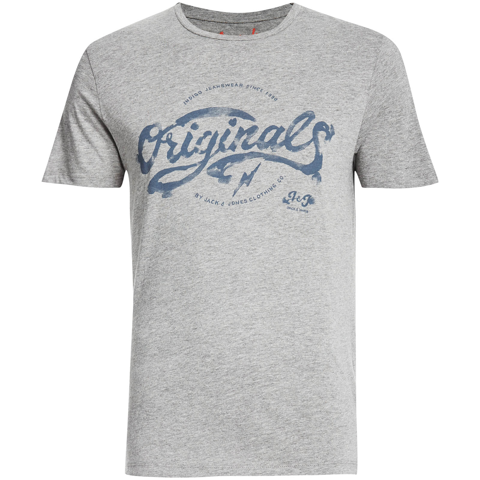 T-Shirt Homme Originals Miller Jack & Jones -Gris Clair