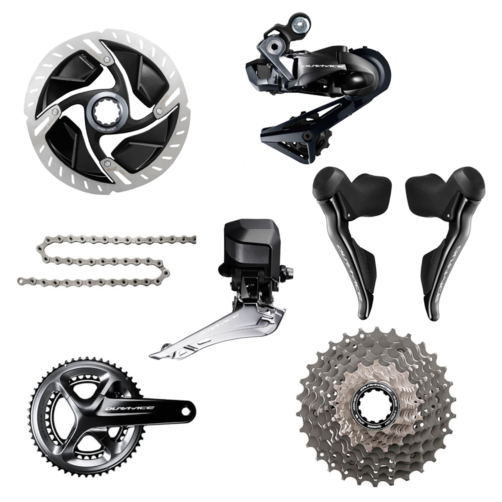 Shimano Dura Ace R9170 Di2 11 Speed Groupset - Hydraulic Disc Brake