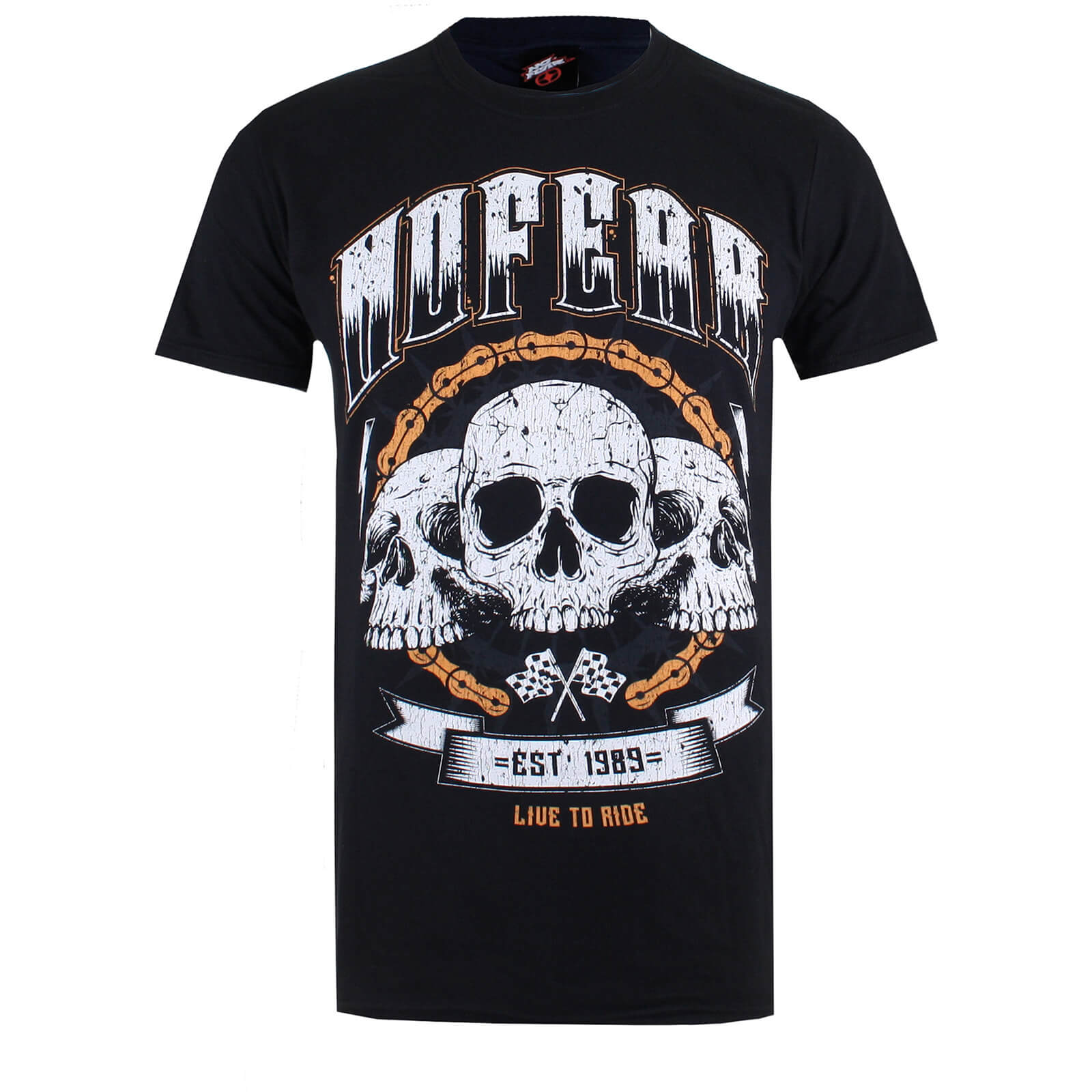 f8634fd62ea8 No Fear Men's Skull Chain T-Shirt - Black | My Geek Box
