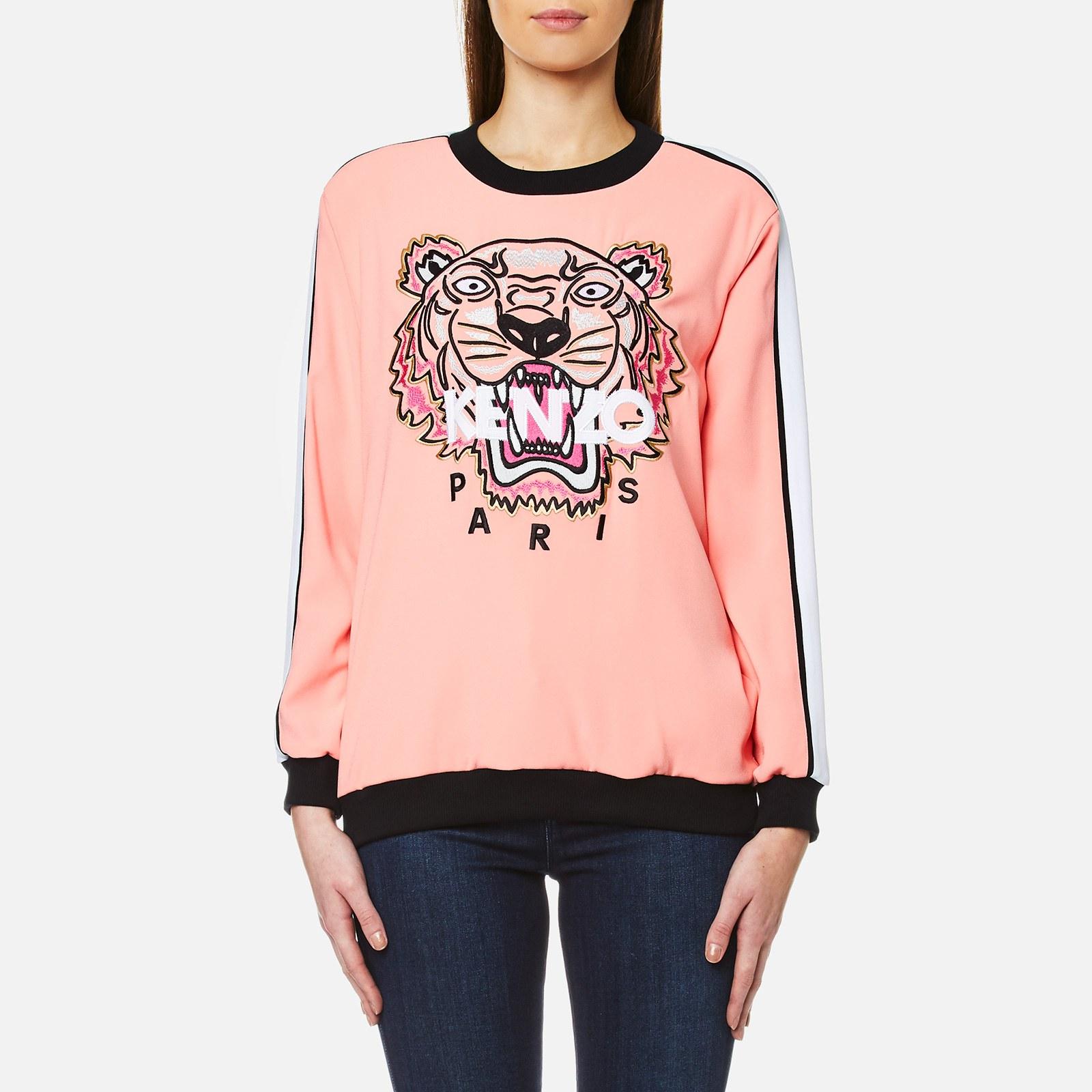 d8978b22b275 KENZO Women's Crepe Back Satin Tiger Sweatshirt - Flamingo Pink - Free UK  Delivery over £50