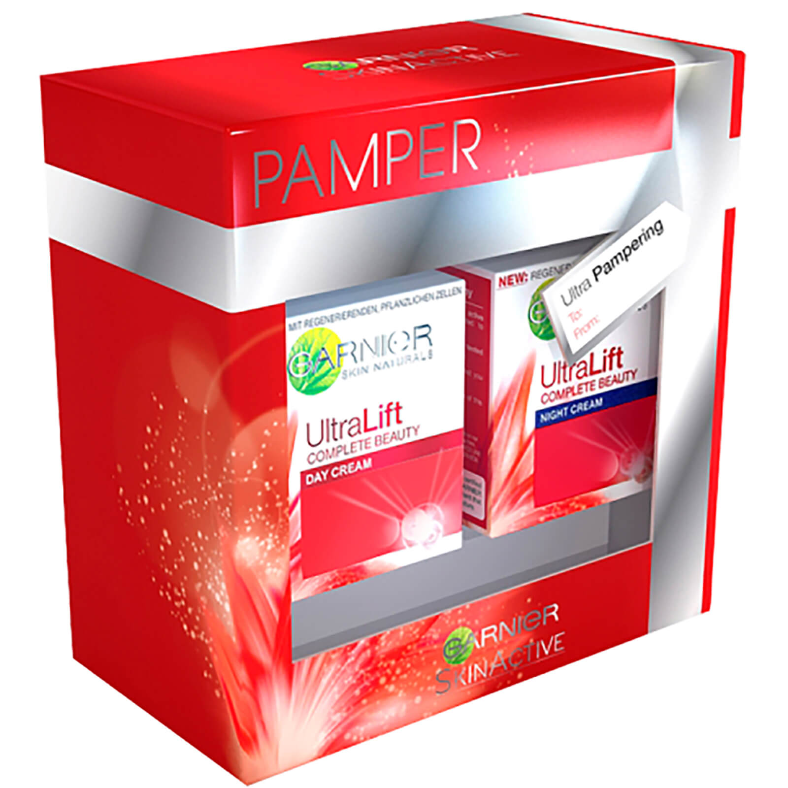 Garnier Ultralift Pamper Gift Set. Description