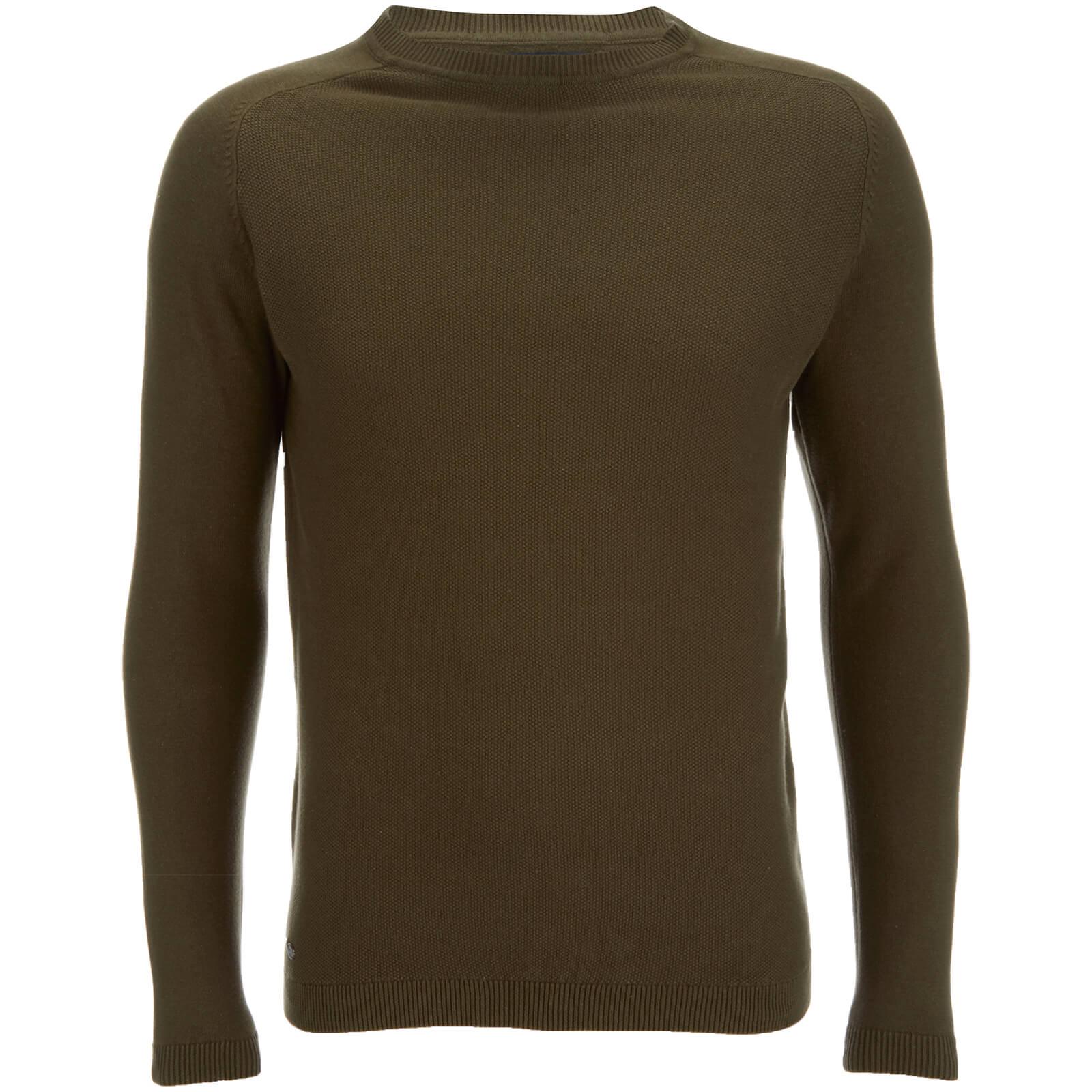 ae150e3a1 Kensington Eastside Men s Henry Cotton Crew Neck Jumper - Khaki Mens  Clothing