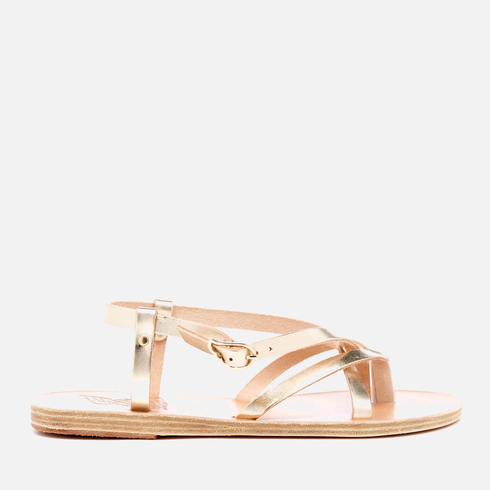 42c6b5135 Ancient Greek Sandals Women s Semele Multi Strap Flat Vachetta Leather  Sandals - Platinum - Free UK Delivery over £50