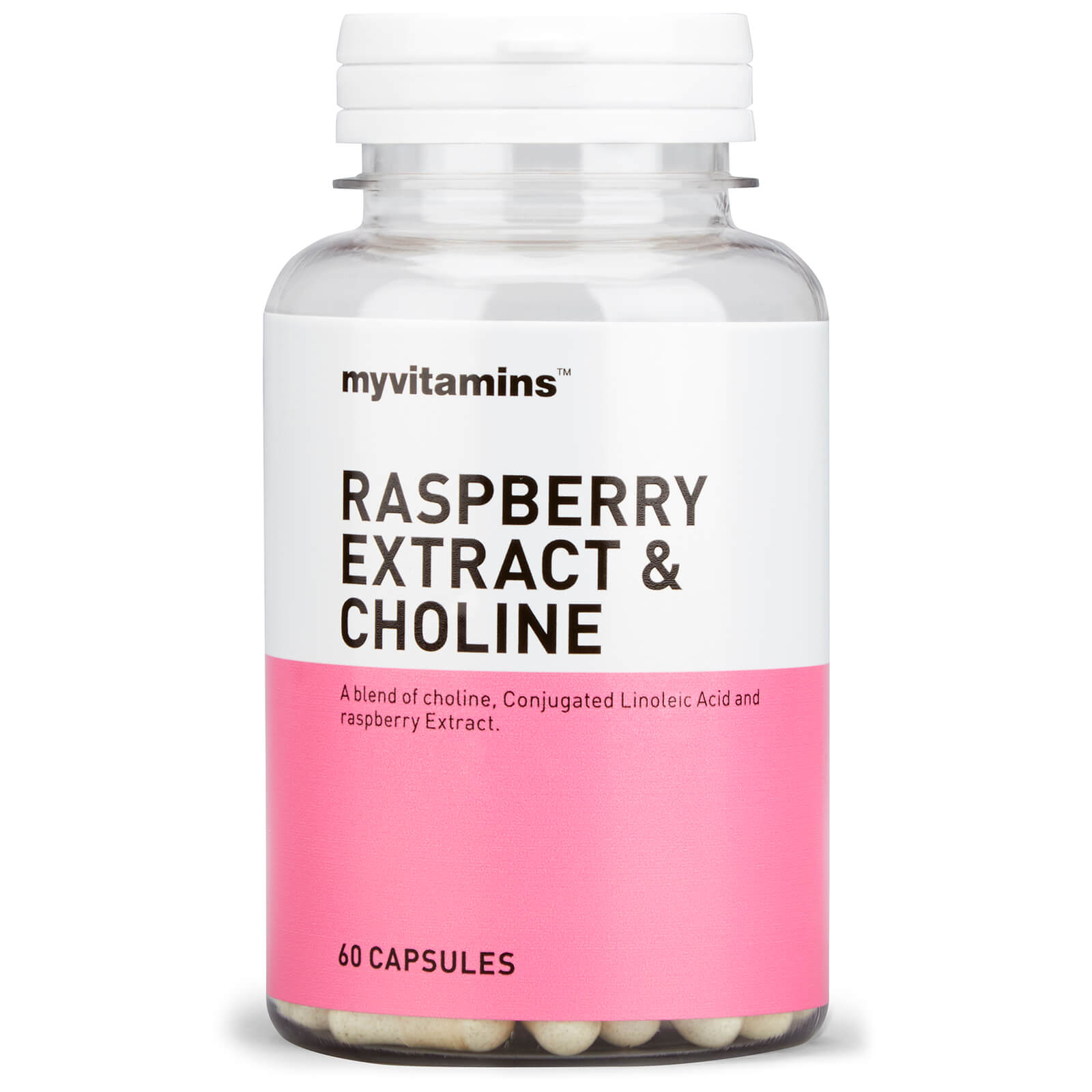 Raspberry Extract & Choline, 60 Capsules