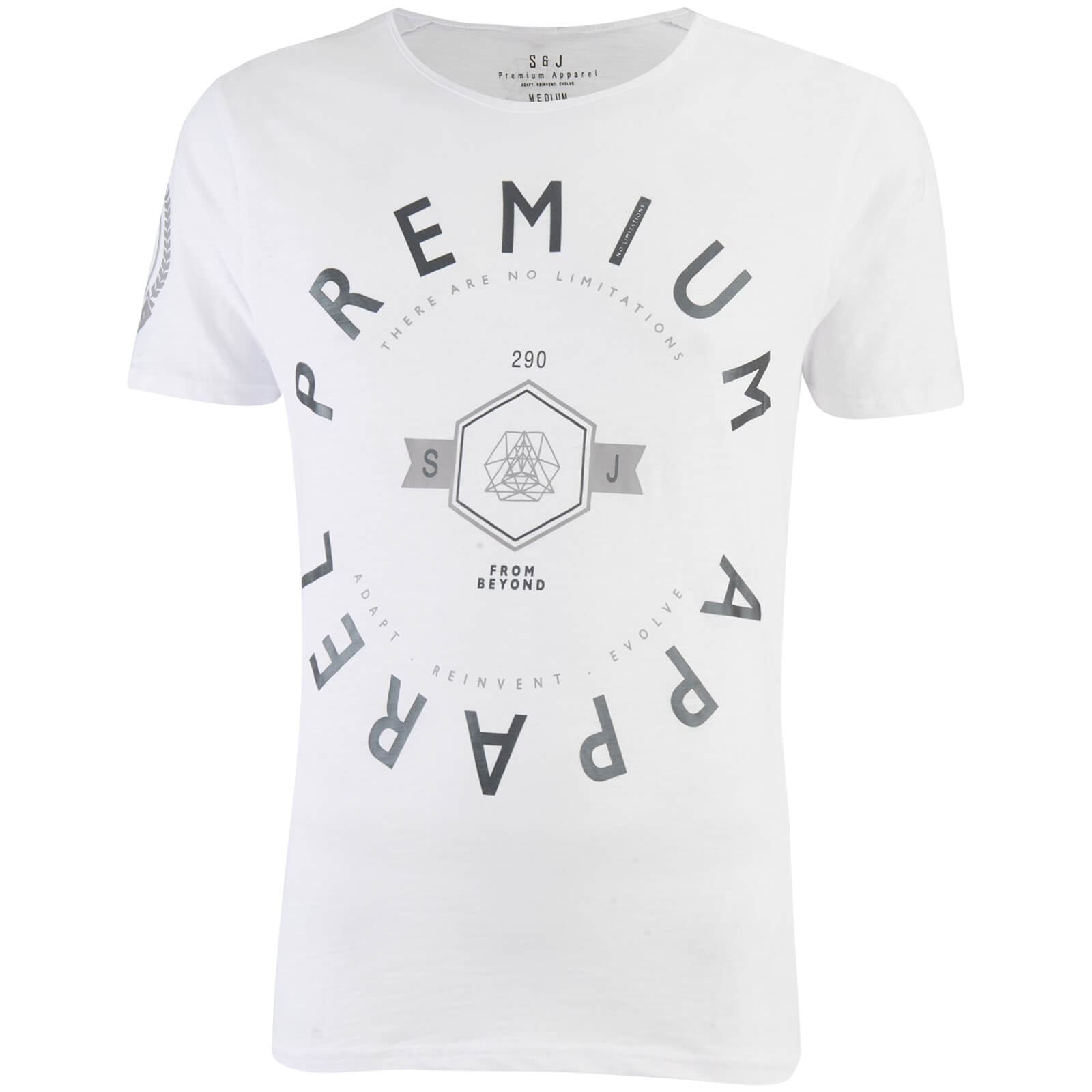 T-Shirt Homme Kinetic Col Rond Smith & Jones -Blanc