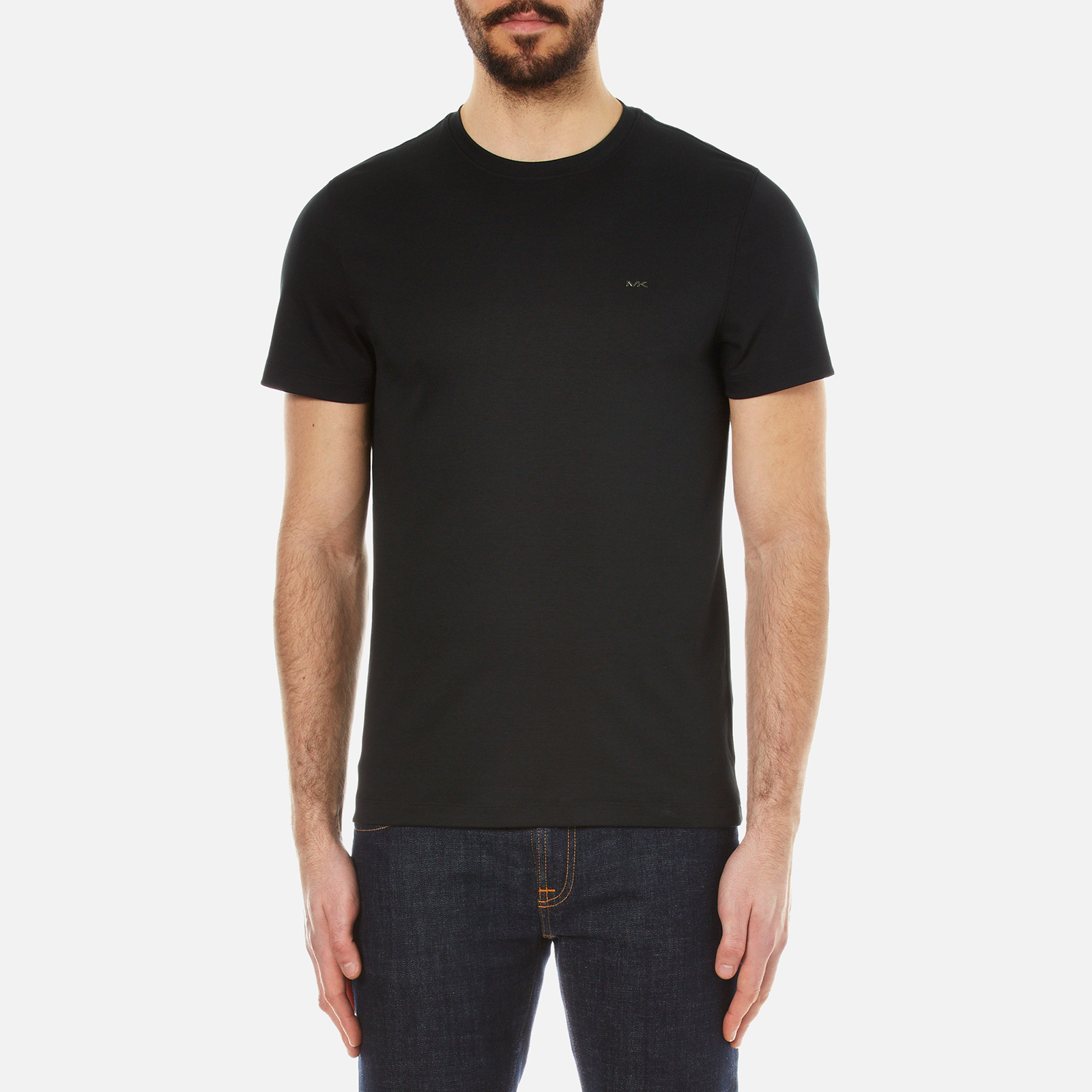 5c284dd9 Michael Kors Men's Sleek MK Crew T-Shirt - Black - Free UK Delivery over £50