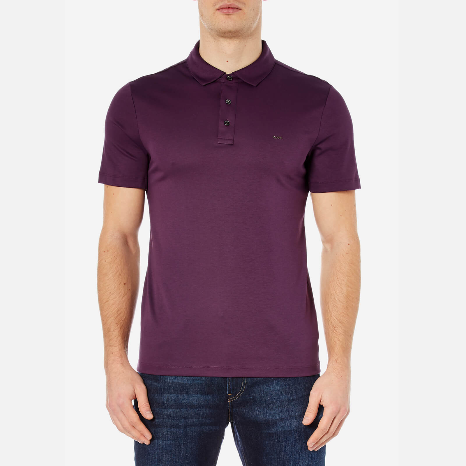 8932cff0be7ae Michael Kors Men s Sleek MK Polo Shirt - Blackberry - Free UK Delivery over  £50