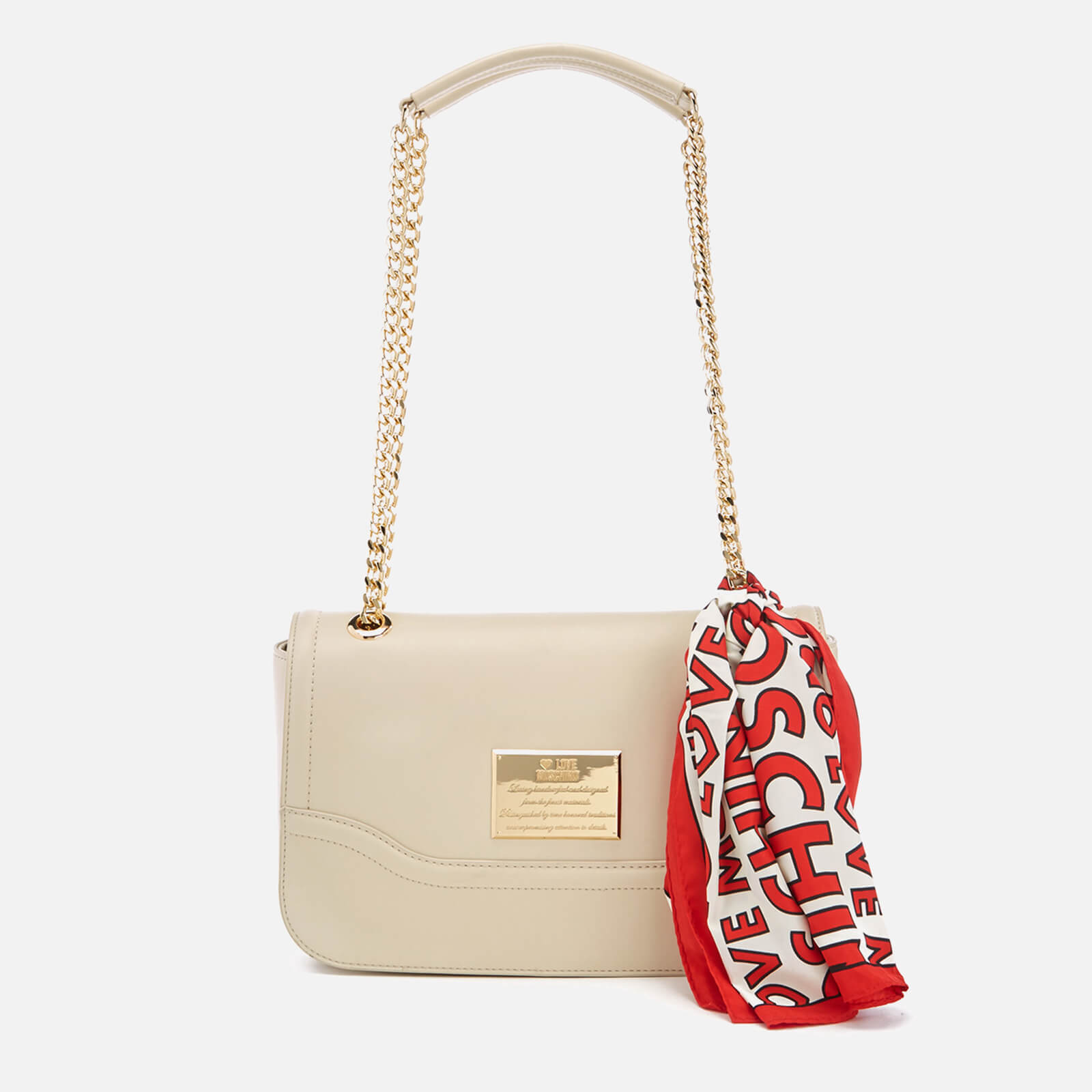 3e1c72476 Love Moschino Women's Shoulder Bag - Cream - Free UK Delivery over £50